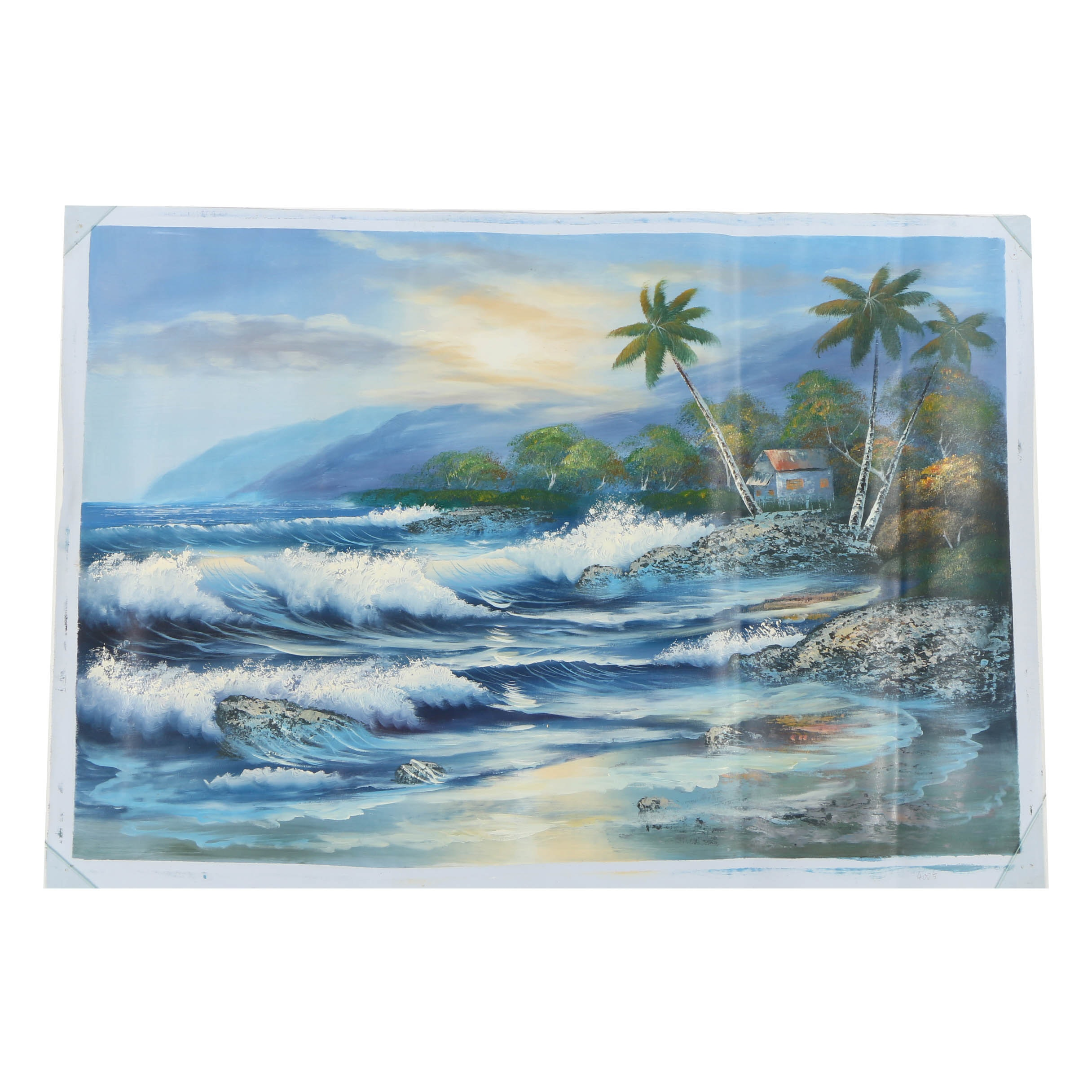 Oil Painting of a Tropical Landscape