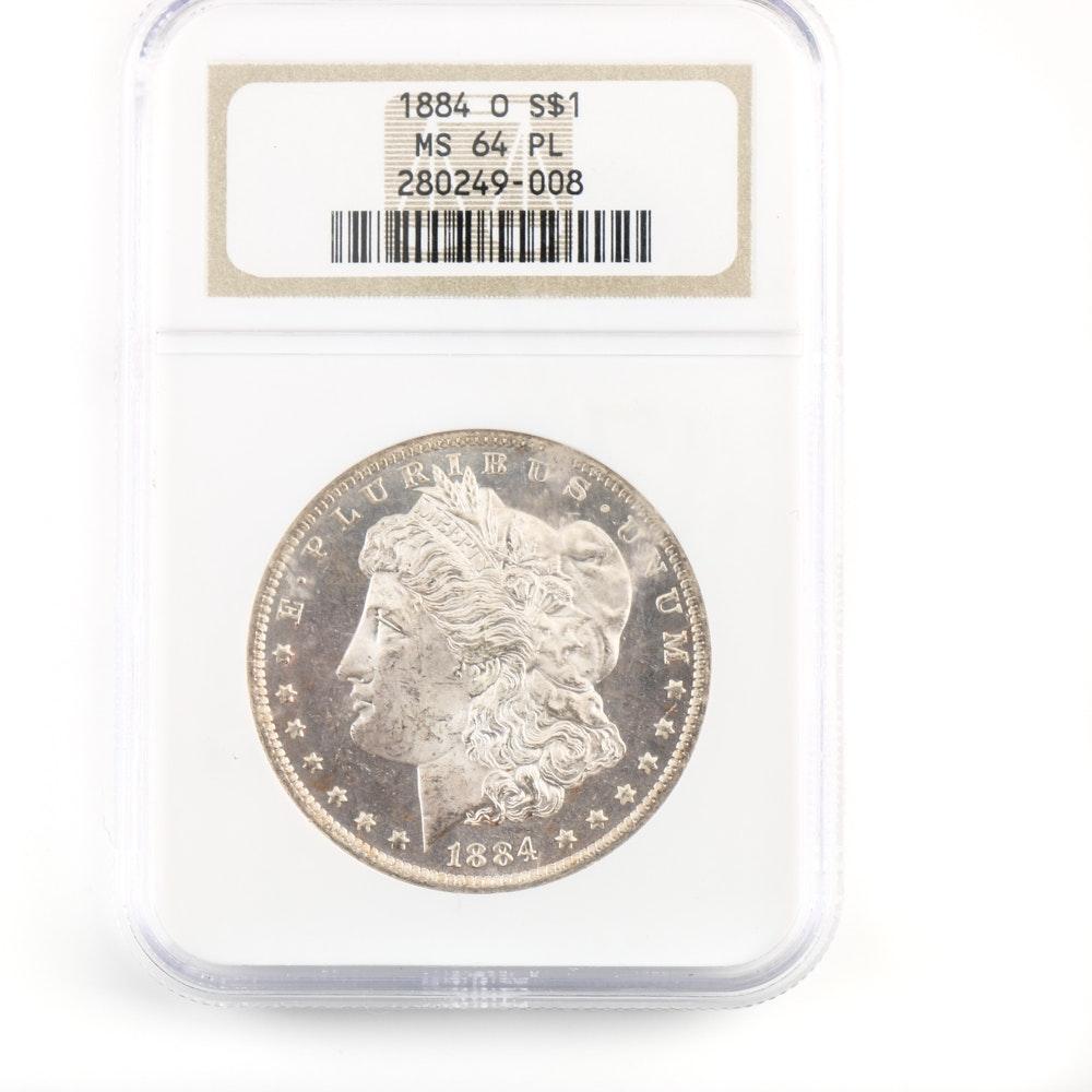 NGC MS 64 1884 O Morgan Silver Dollar