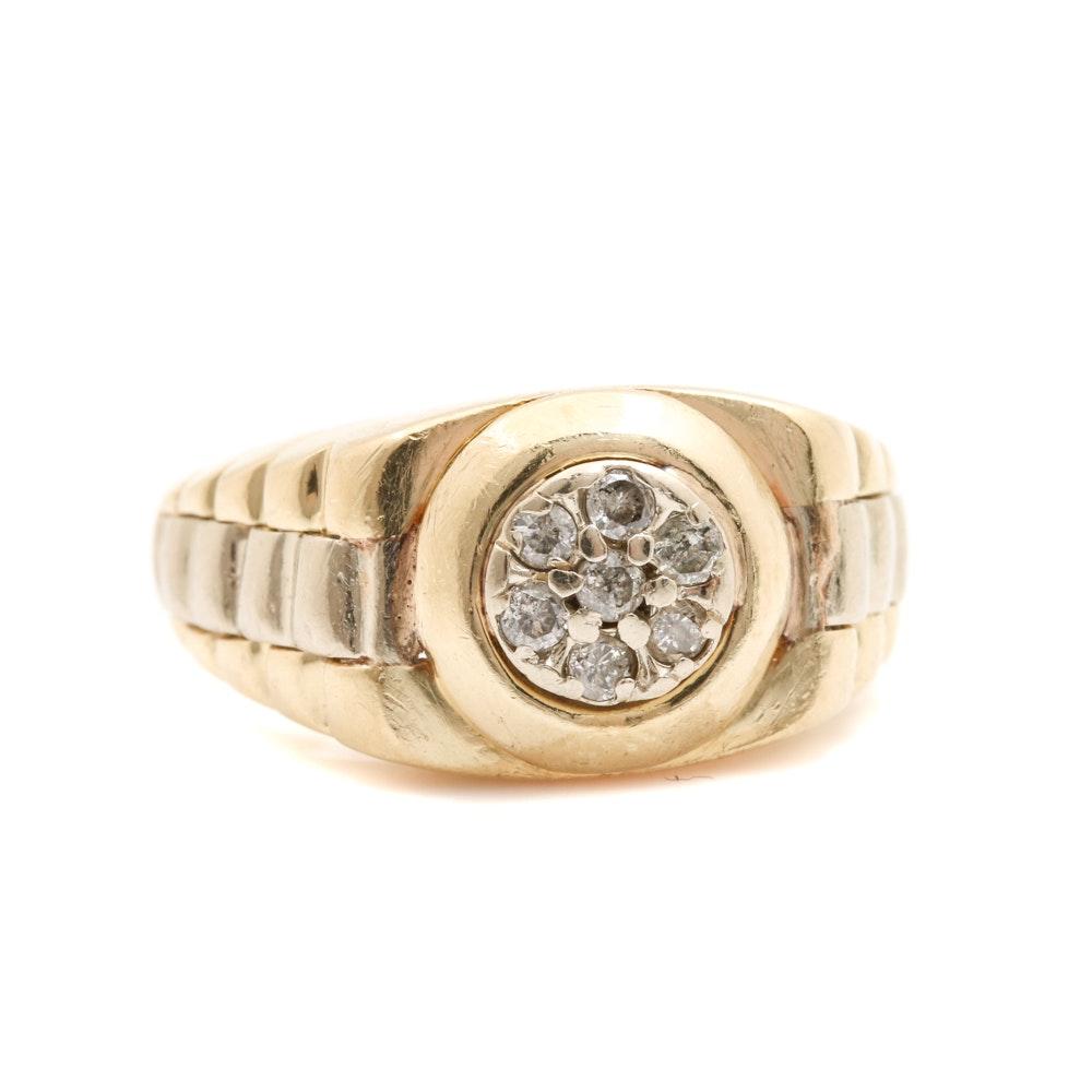 14K Yellow Gold Diamond Jubilee Ring