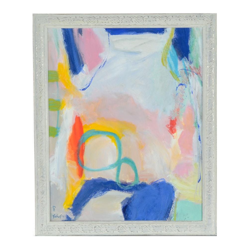 "Lisa Schafer Original Acrylic Painting "" Confetti"""