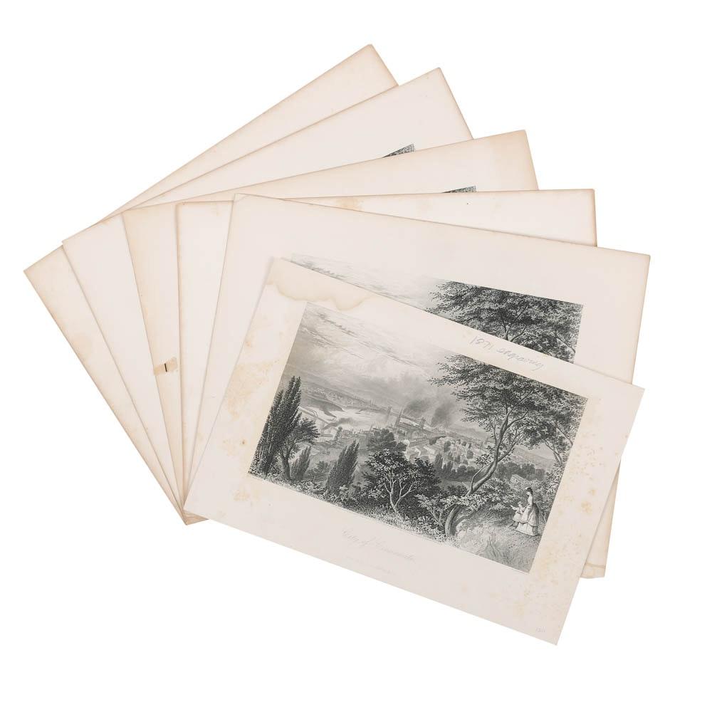 Late 19th-Century Cincinnati-Themed Engravings