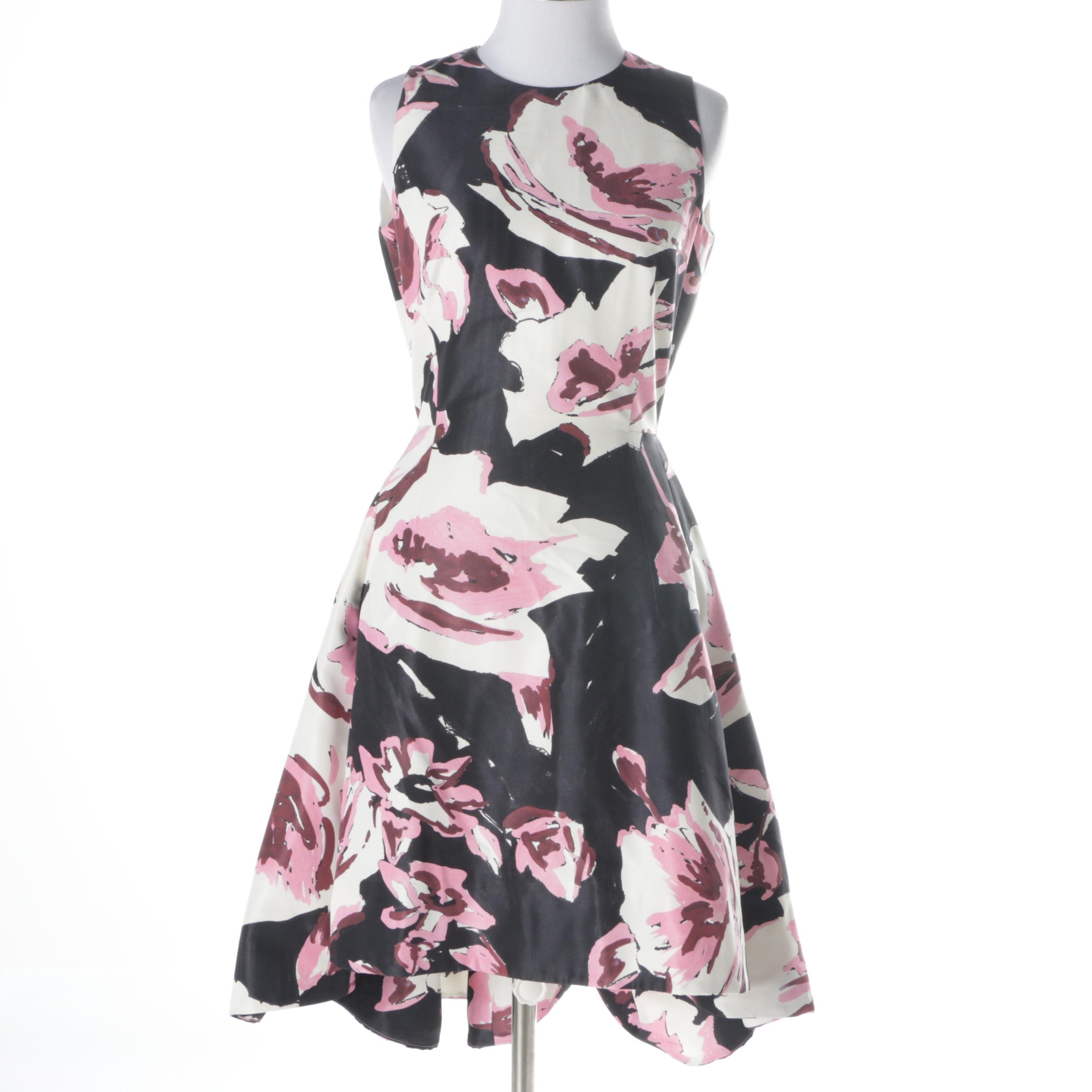 Christian Dior Floral Silk Fit and Flare Dress
