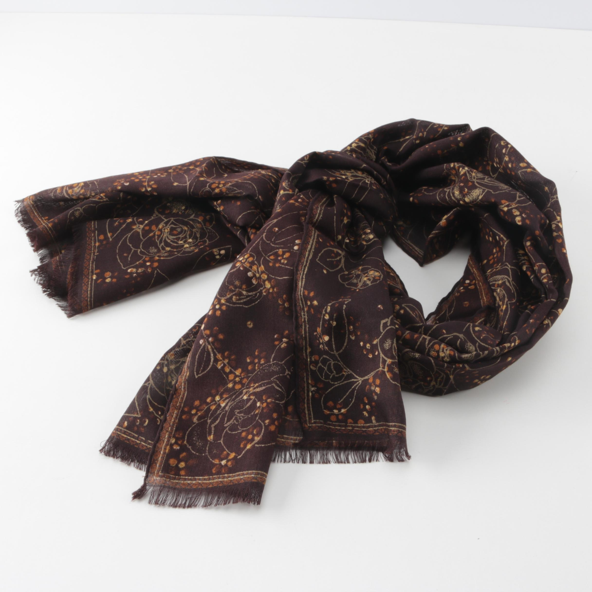 Chanel Silk and Cashmere Scarf