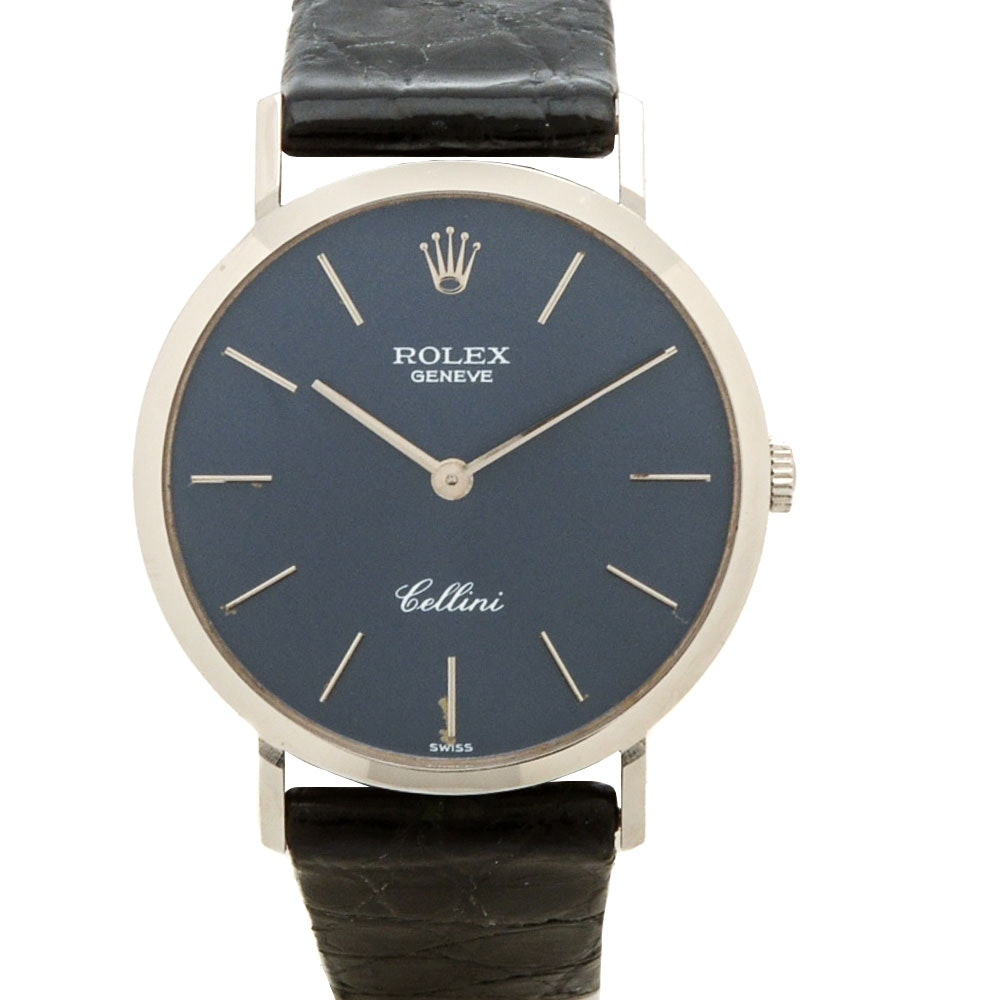 Rolex Cellini Classic 18K White Gold Manual Wind Watch
