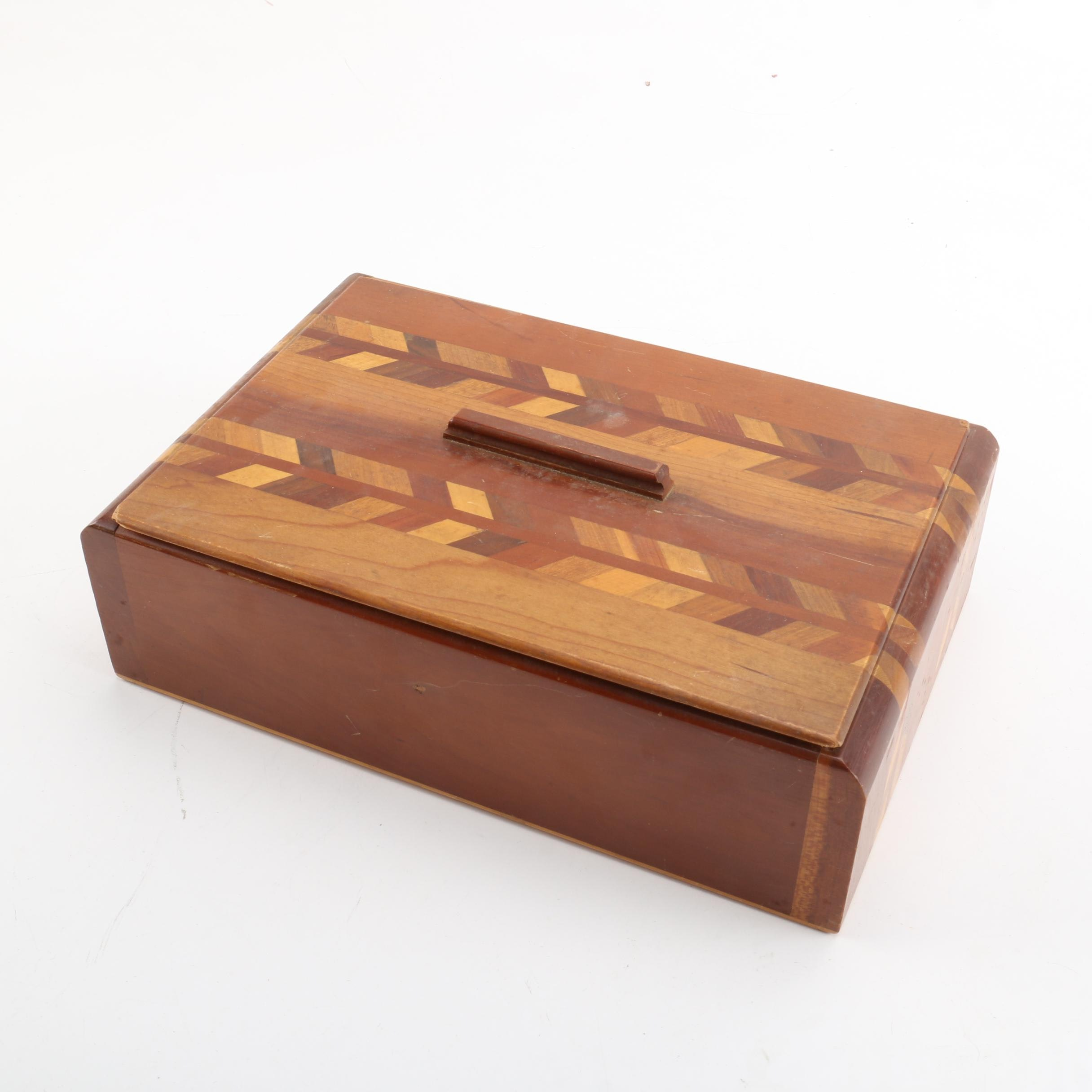 Decorative Handcrafted Inlaid Wood Box