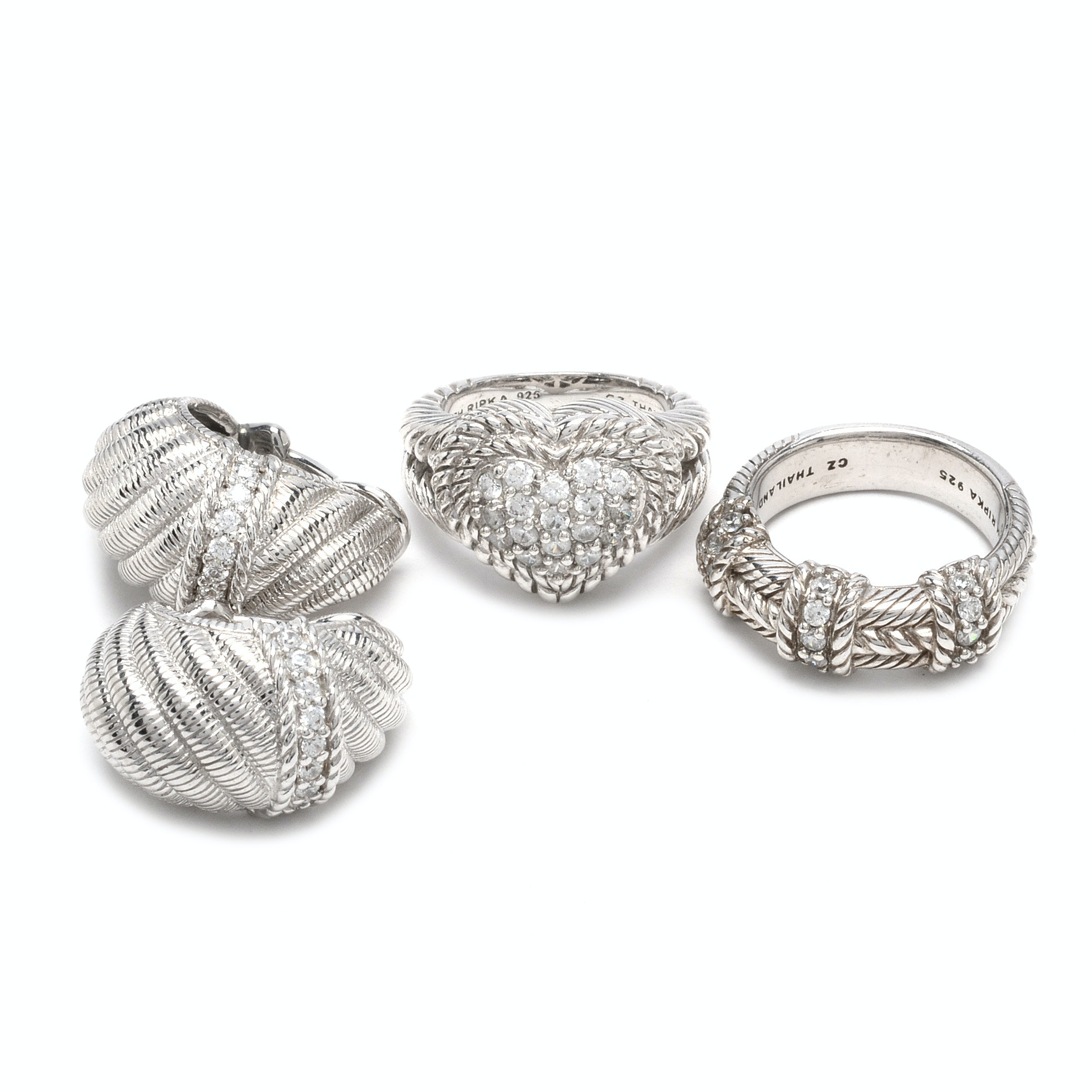 Judith Ripka Sterling Silver and Cubic Zirconia Jewelry
