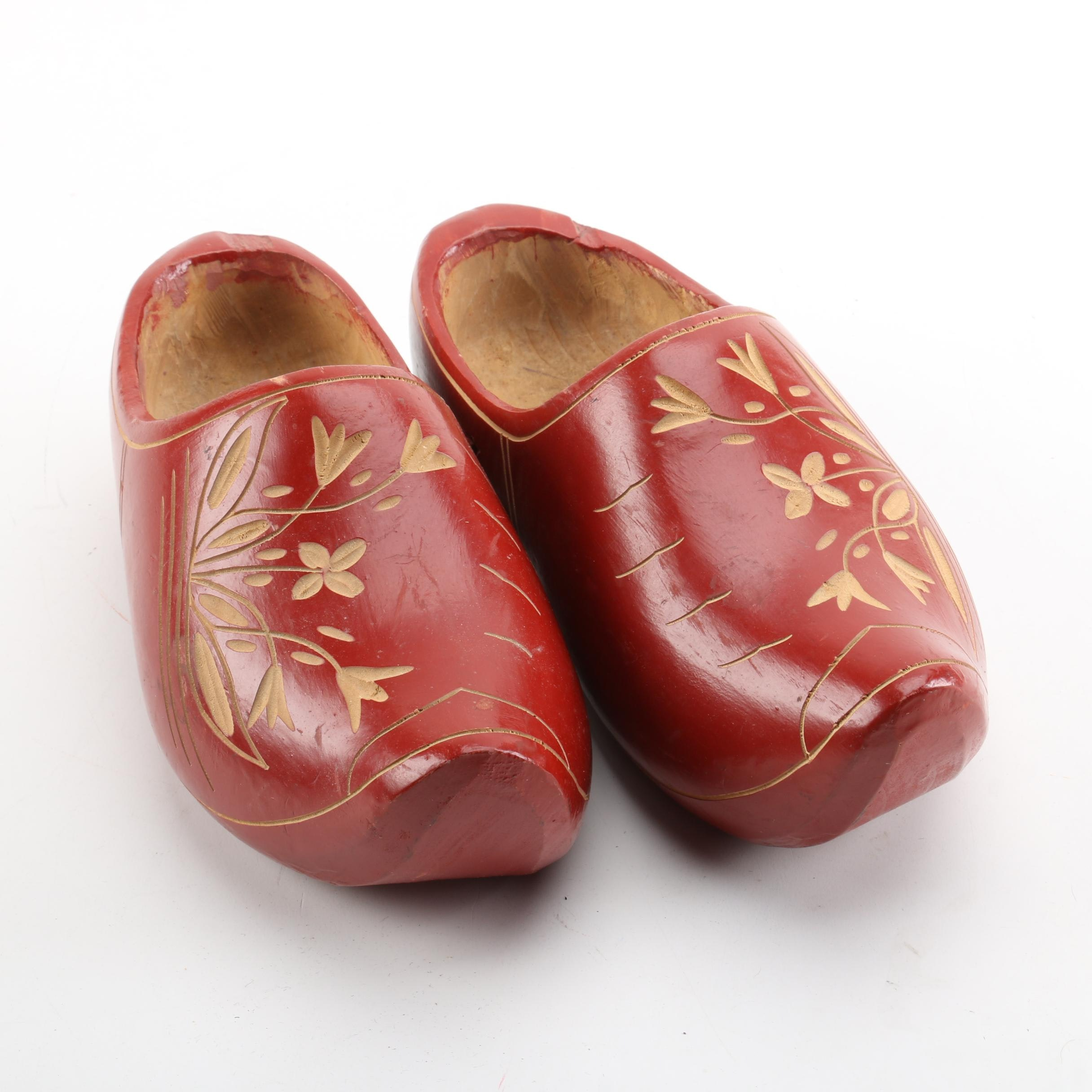 Hand Carved Danish Wood Clogs
