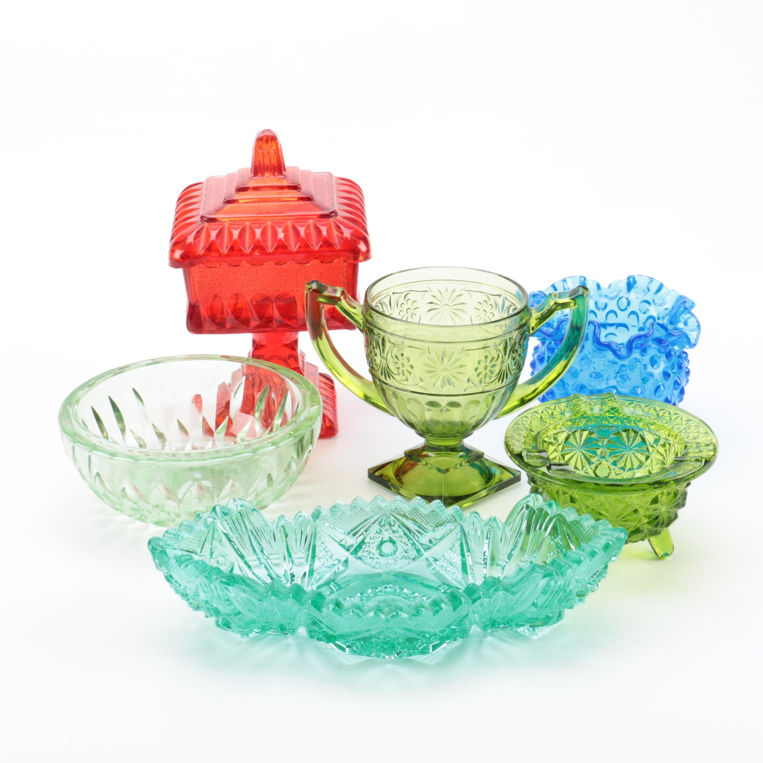 Group of Colorful Glass including Fenton