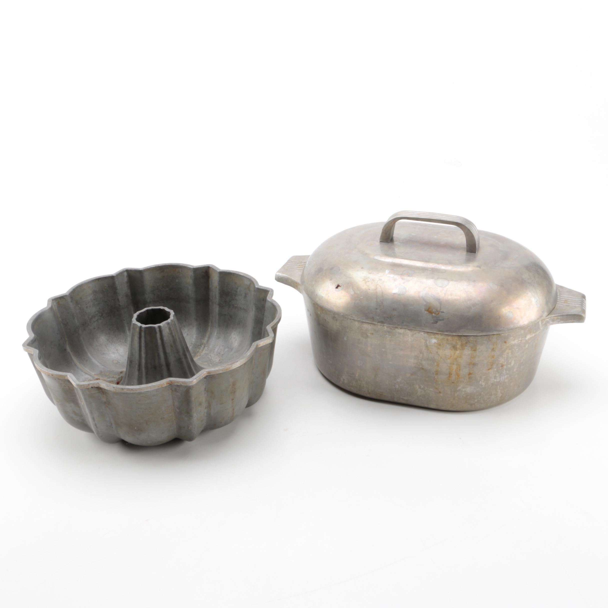 Wagner Ware Magnalite Roasterette and Bundt Pan