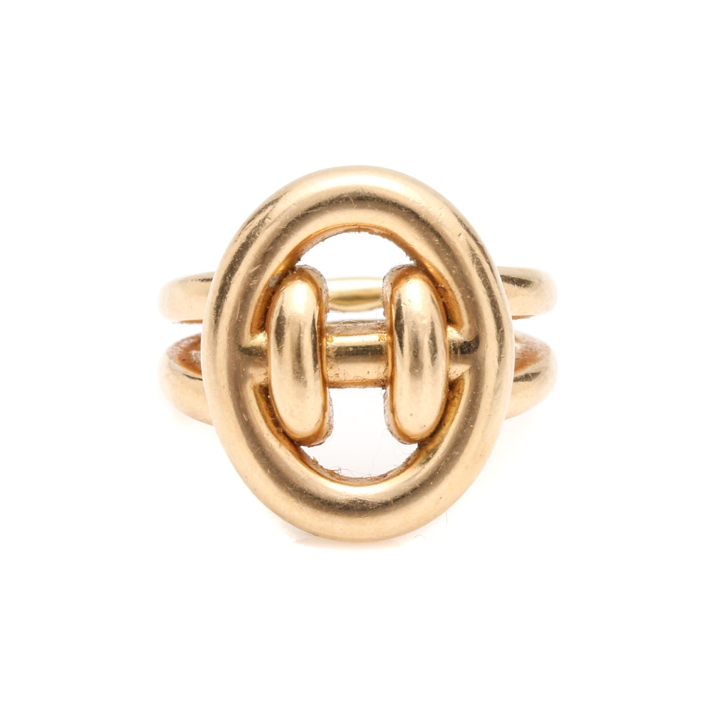 "Hermès ""Ronde"" 18K Yellow Gold Ring"