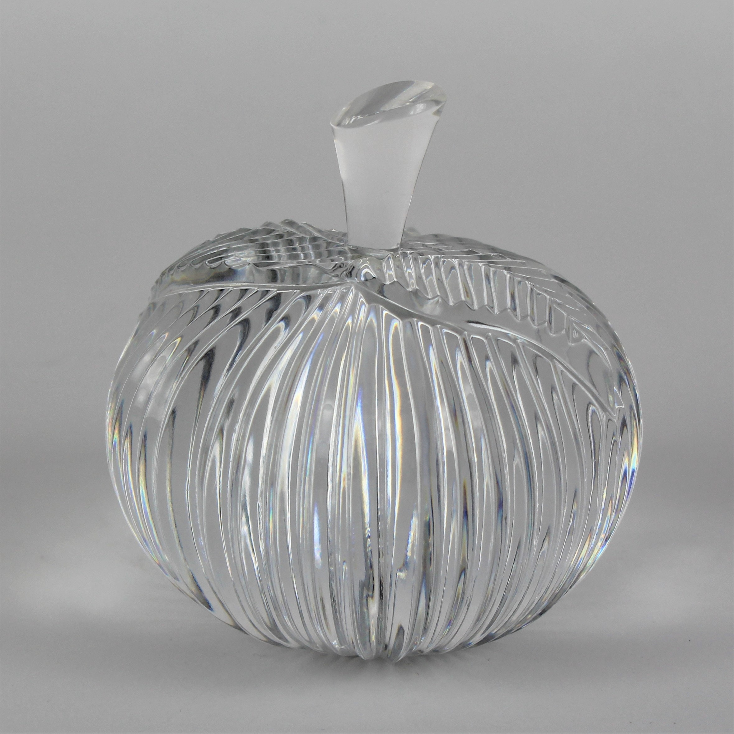 Waterford Crystal Peach Paperweight