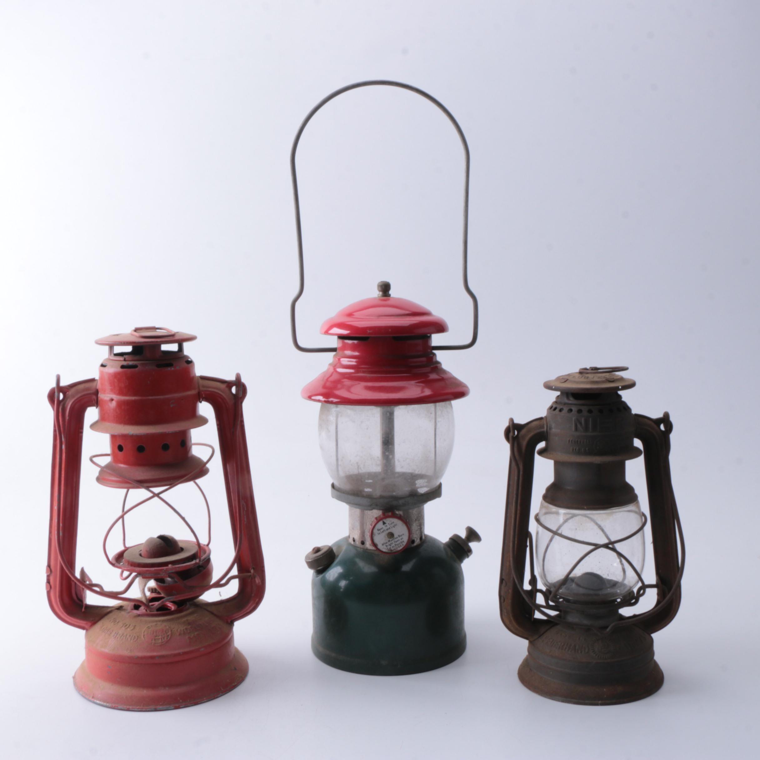 Vintage Railroad Lanterns including German Feuerhand