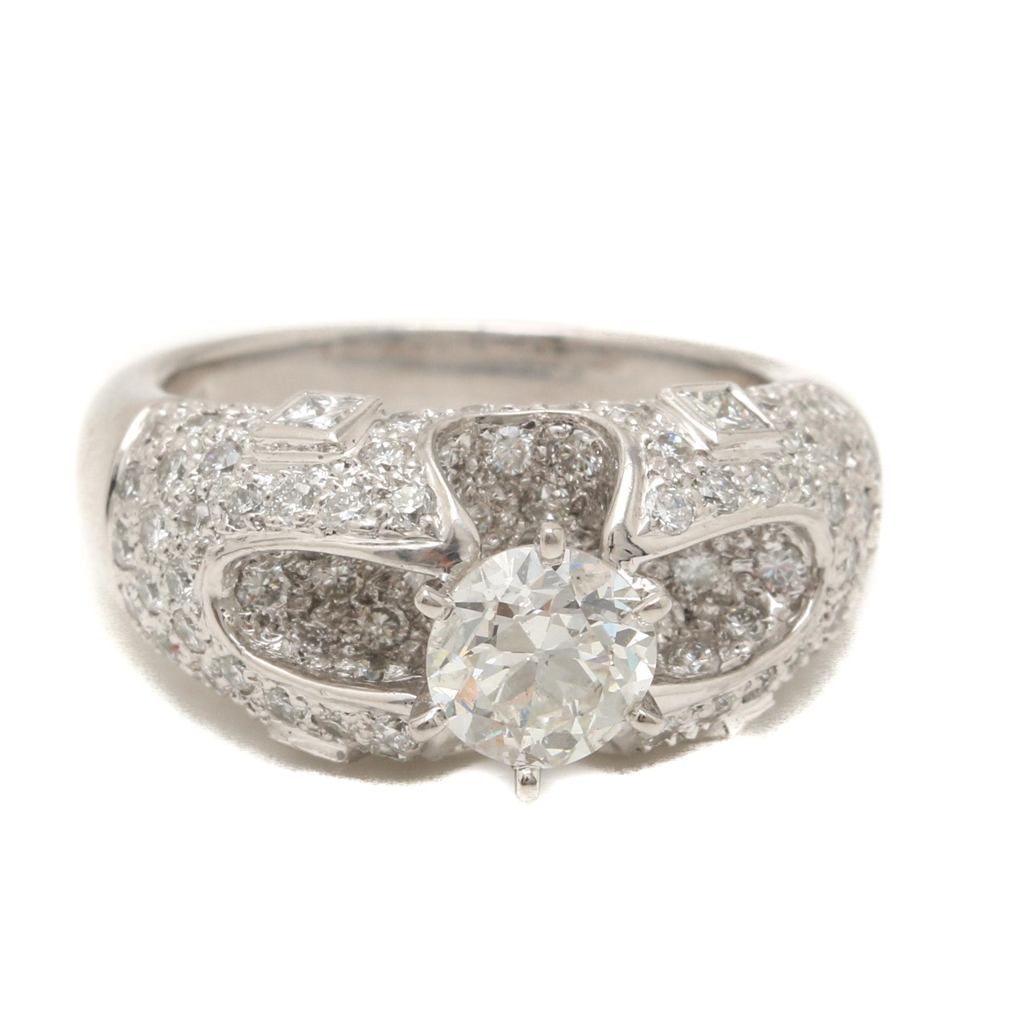 Platinum 2.76 CTW Diamond Ring