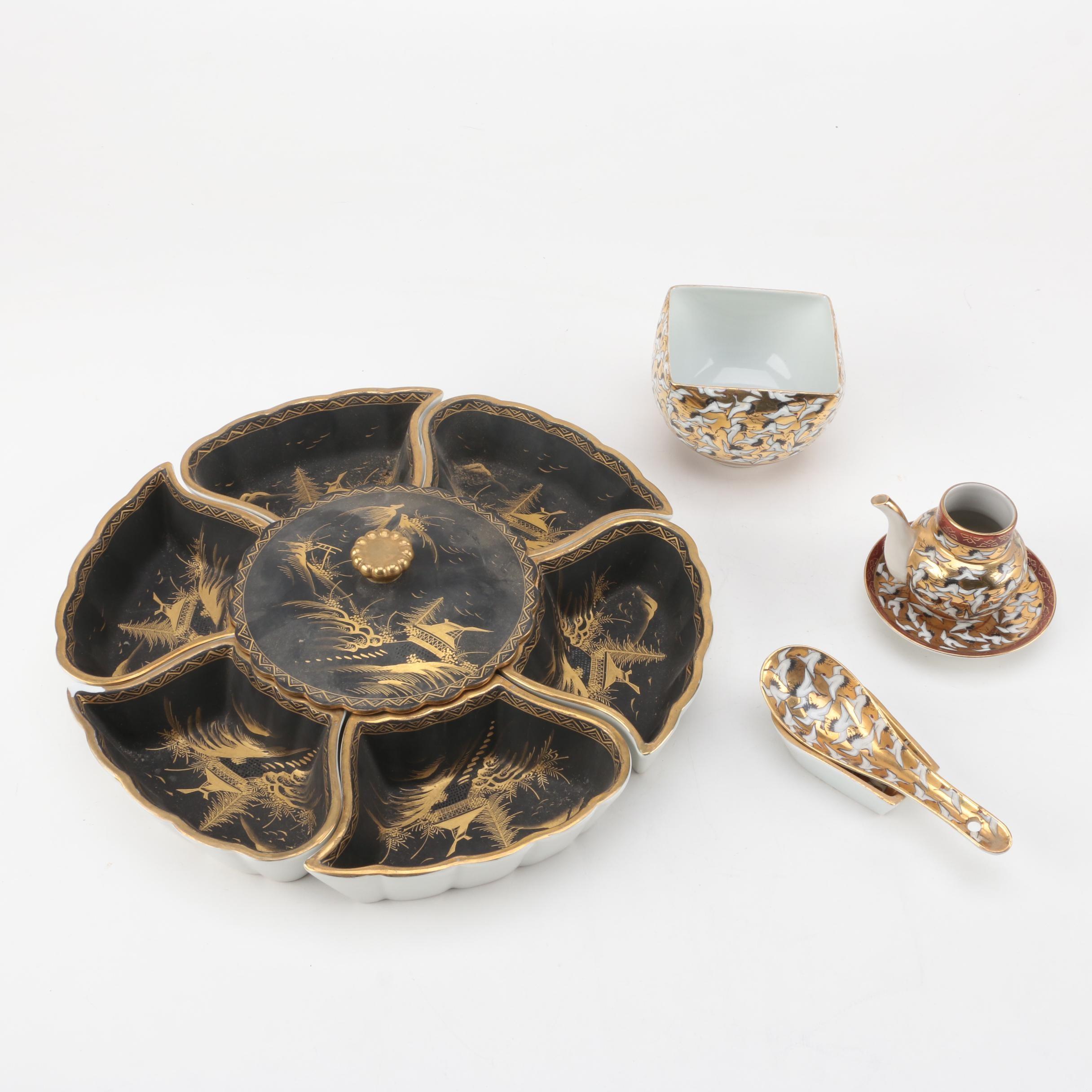 Vintage Japanese Porcelain Serveware