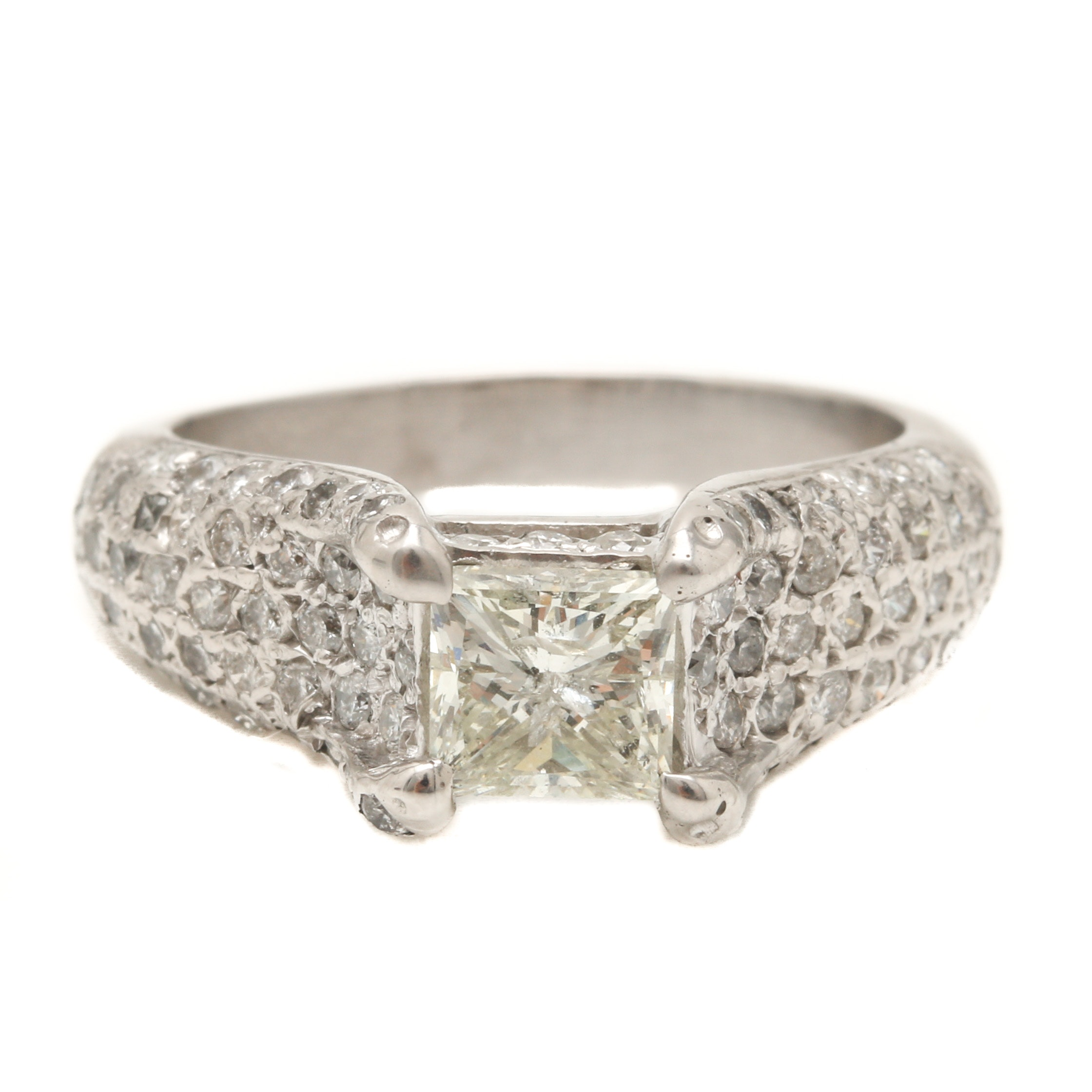 Platinum 1.76 CTW Diamond Ring