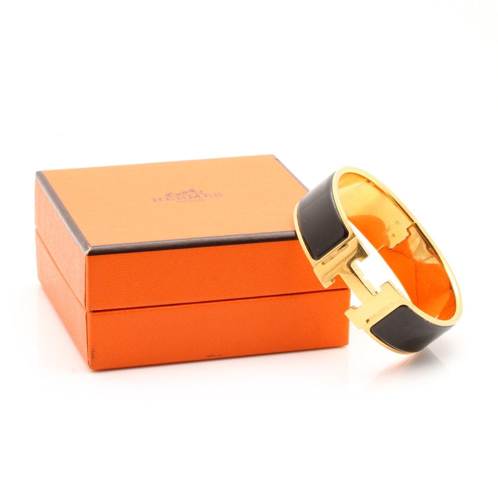 Hermes Clic Clac H Bracelet with Enamel