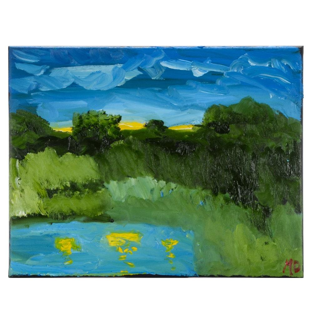 Matthew Meiser Oil Painting of a Landscape