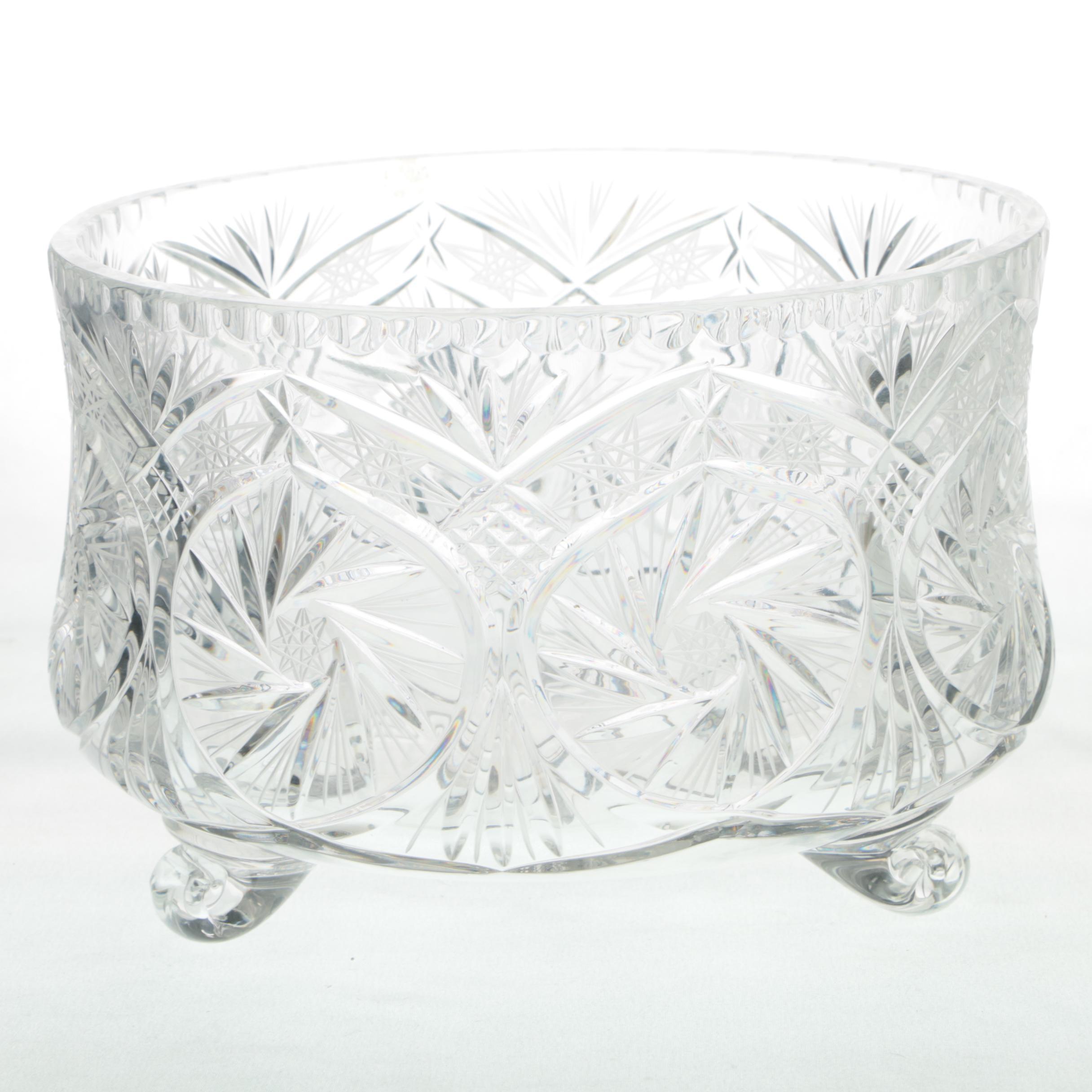 Cut Crystal Footed Bowl