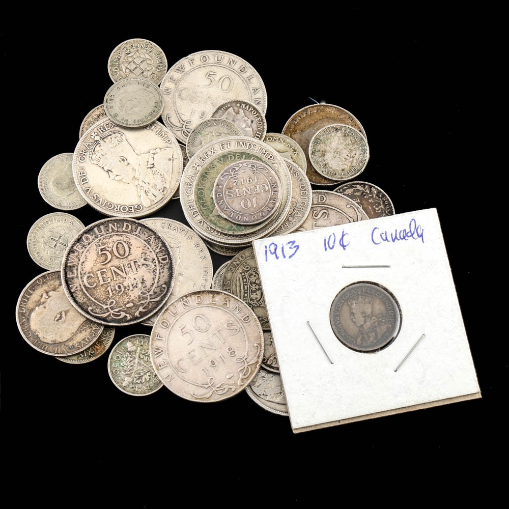 Antique Silver Coins from Newfoundland and Great Britain