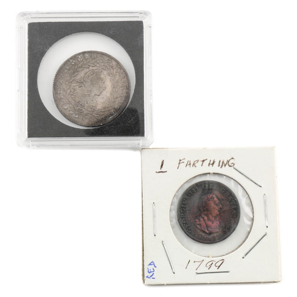 1767 20 Kreuzer and 1799 1 Farthing