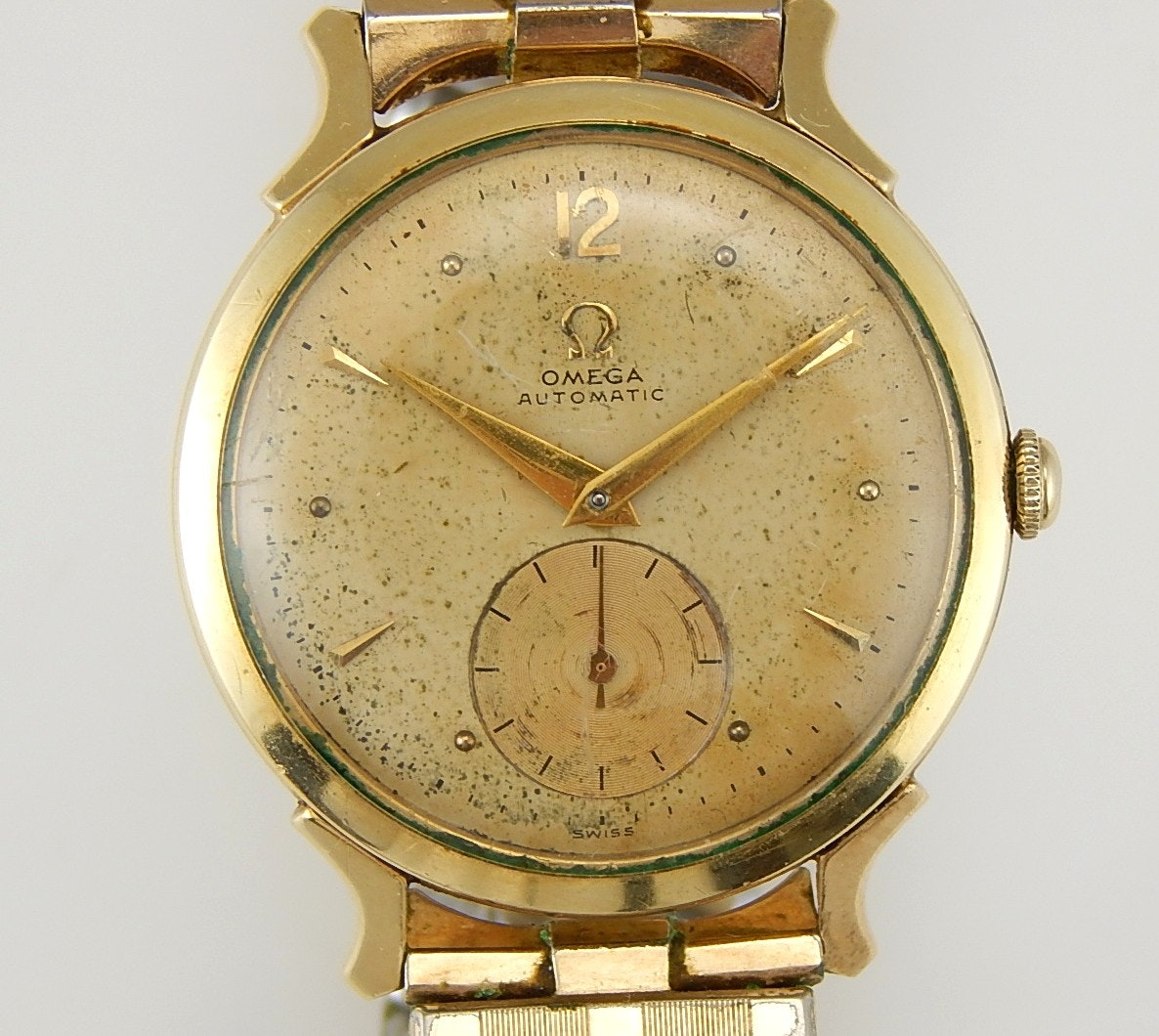 14K Gold Filled Omega Automatic Wristwatch
