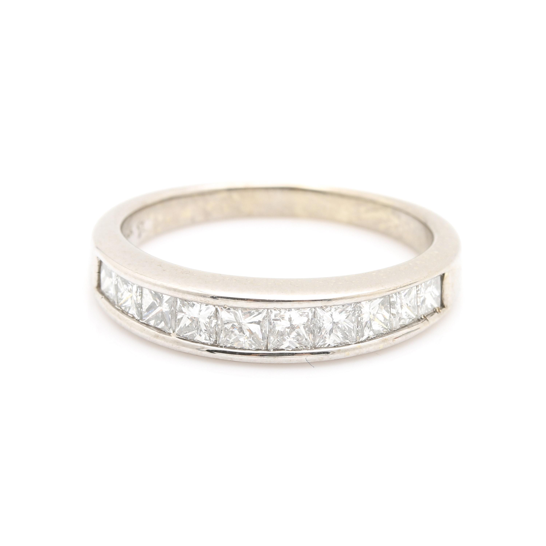 14K White Gold 1.22 CTW Diamond Ring
