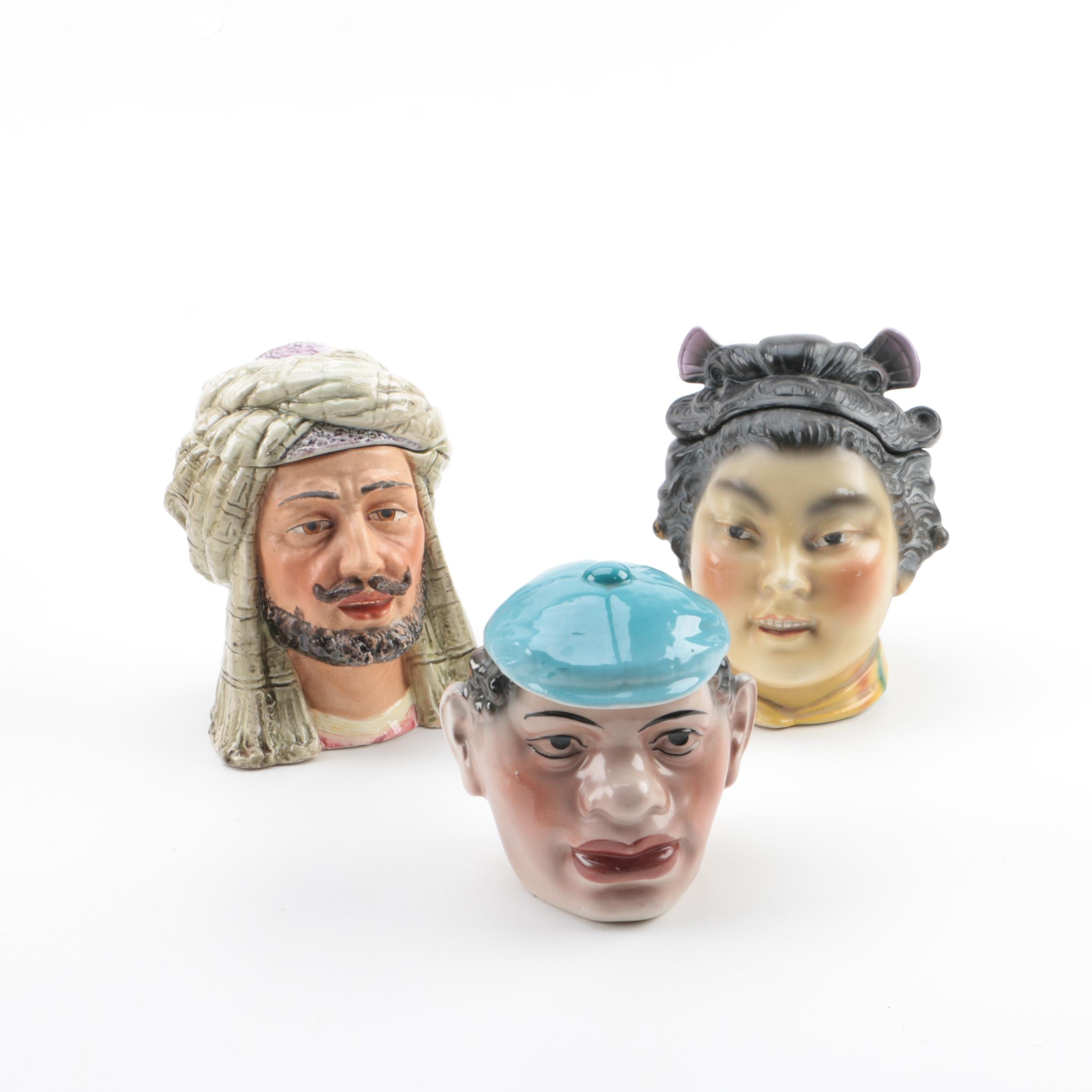 Ceramic Head Shaped Humidor Jars