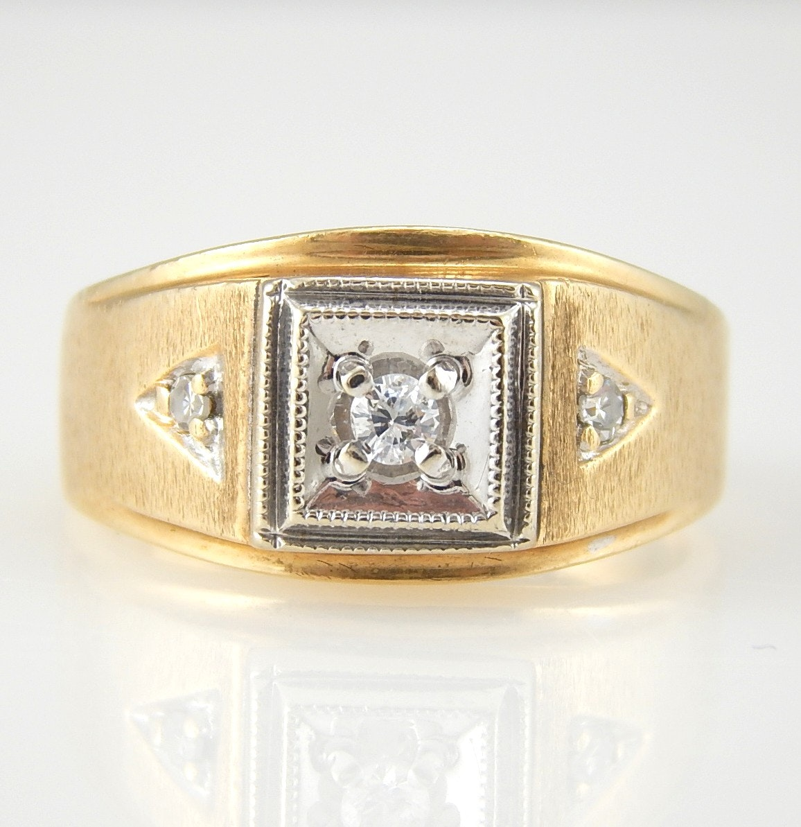 10K Yellow Gold Old European Cut Diamond Ring