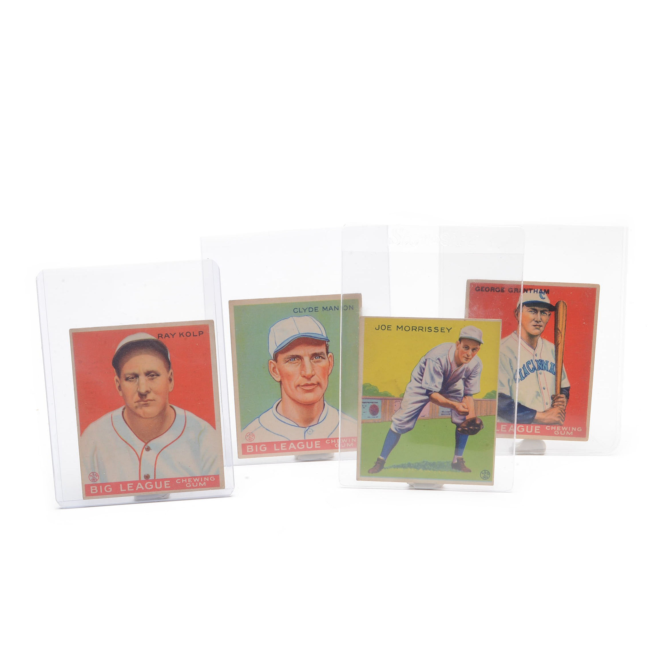 Four 1933 Goudey Gum Cincinnati Reds Baseball Cards