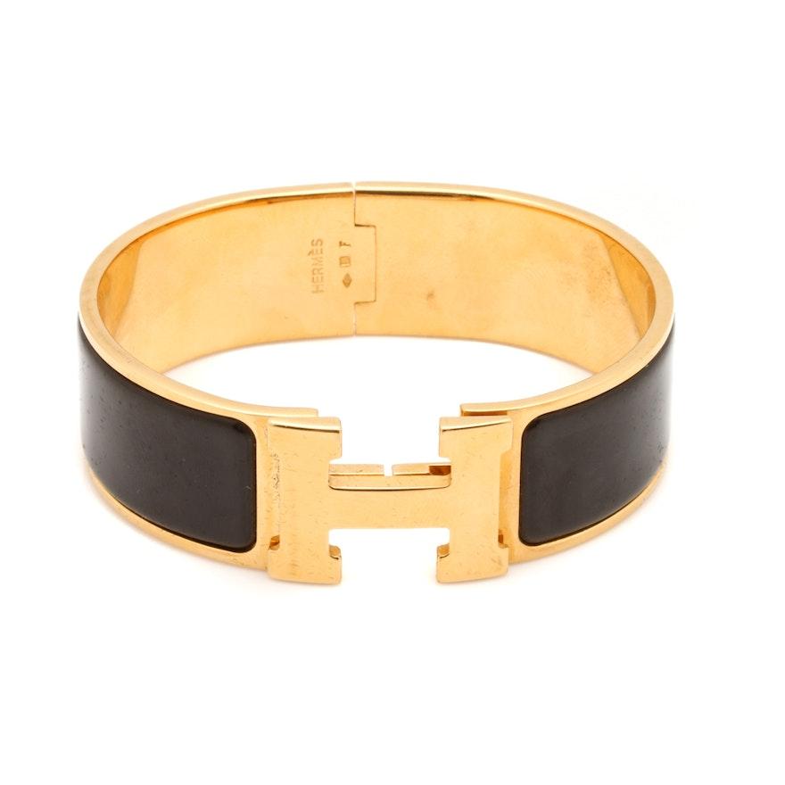 herm s clic clac h bracelet ebth. Black Bedroom Furniture Sets. Home Design Ideas
