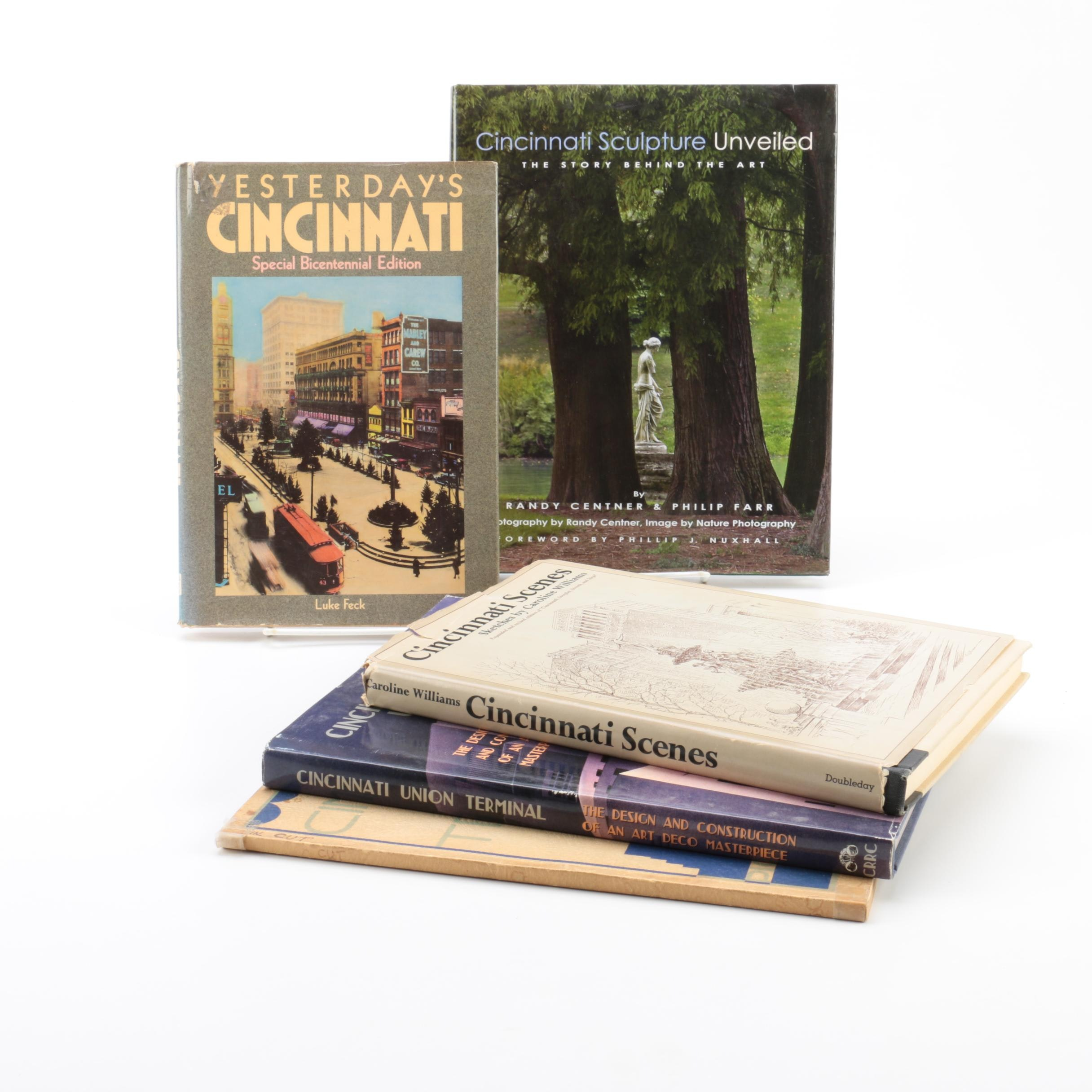 Books on Cincinnati including Caroline Williams and Cincinnati Union Terminal