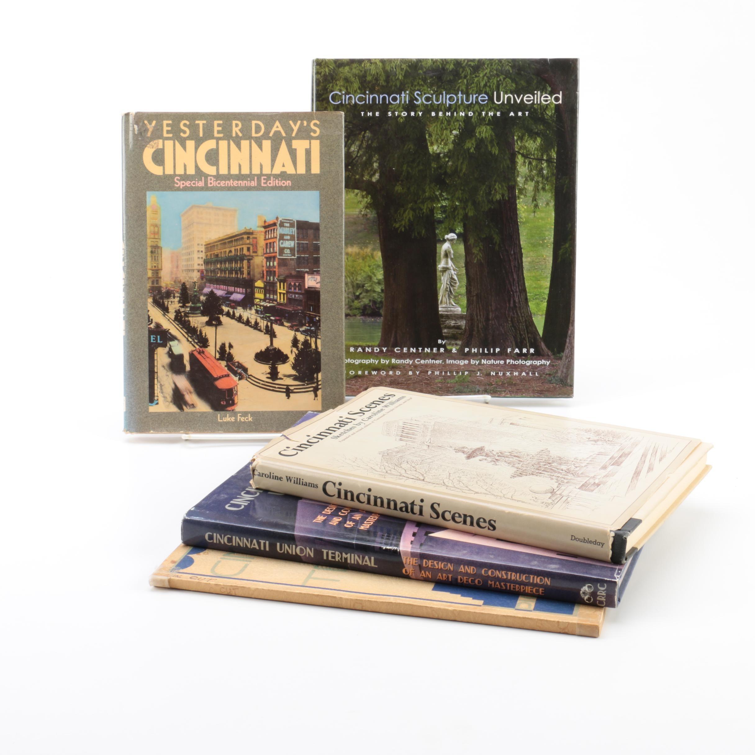 Books on Cincinnati including Caroline Williams and Cincinnati Union Terminal