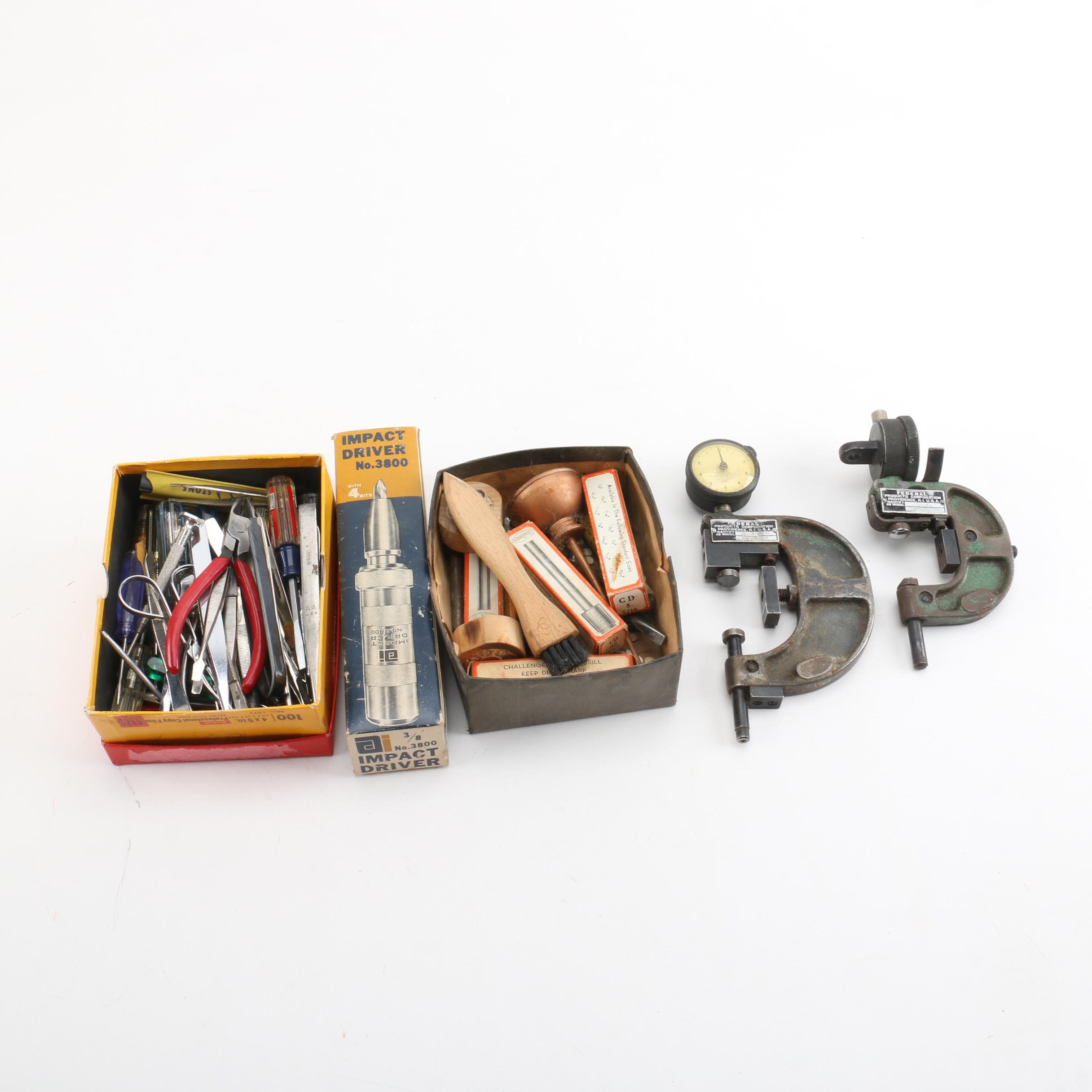 Vintage Federal Snap Gauges and Other Hand Tools