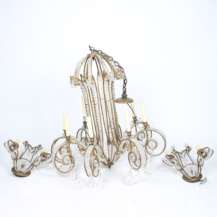 Candelabra Chandelier with Luster Accents