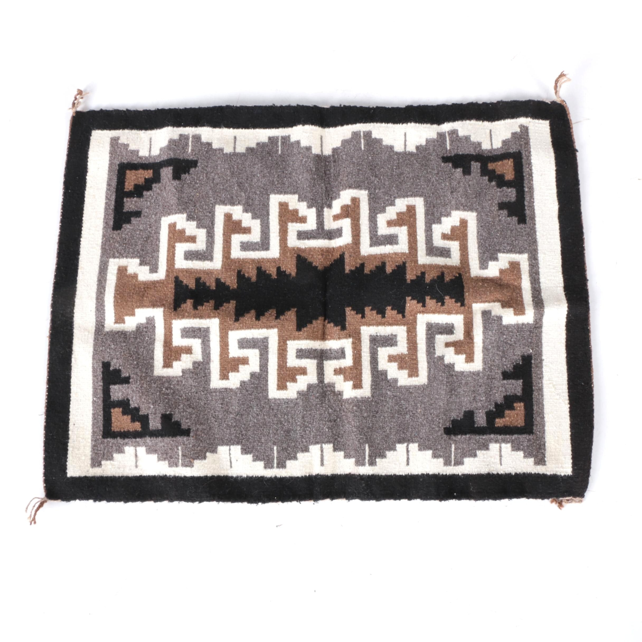 Handwoven Native American-Style Accent Rug