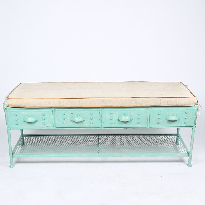 "Contemporary ""Julianne"" Metal Bench from The Barrel Shack"
