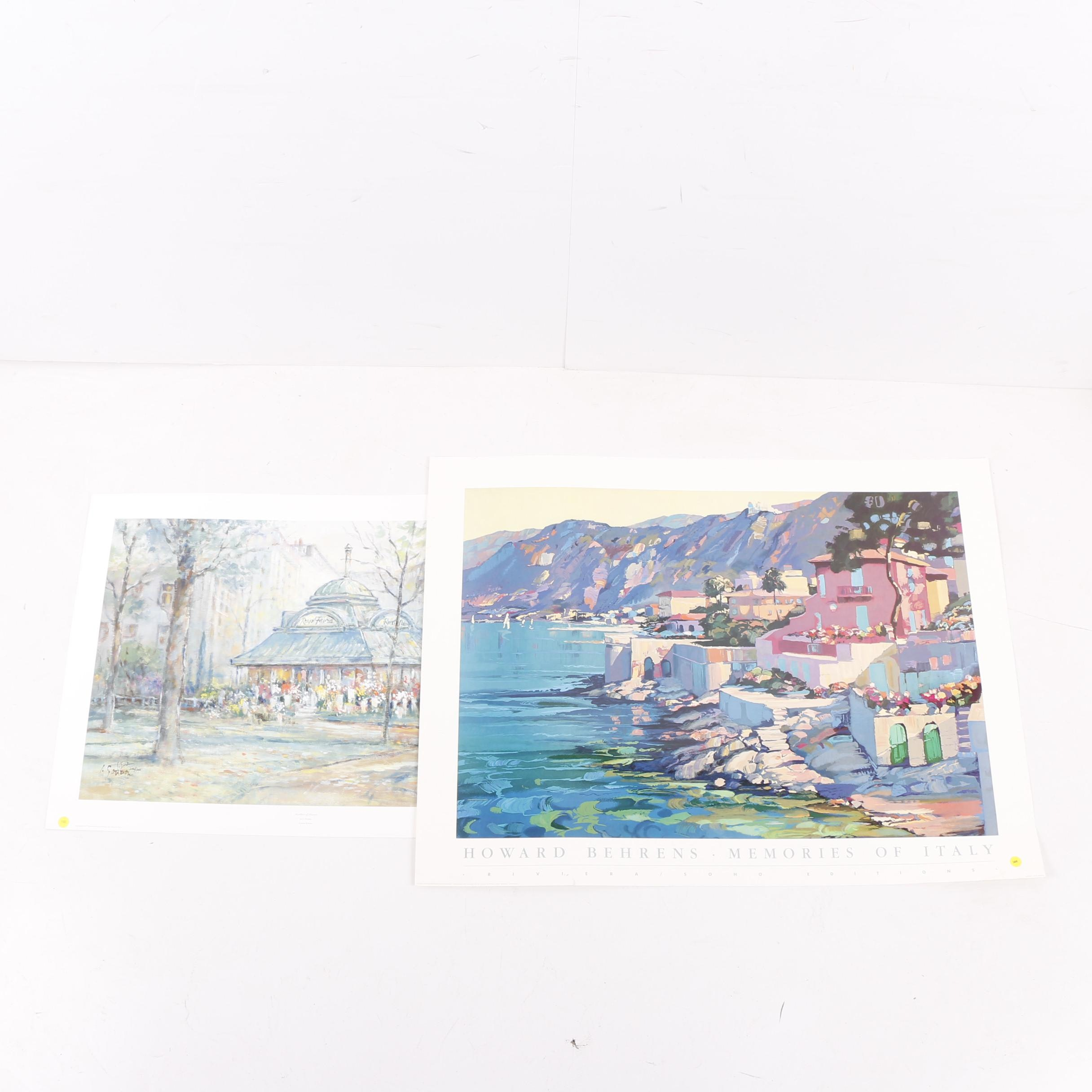 L. Gordon Limited Edition Offset Lithograph and Poster After Howard Behrens
