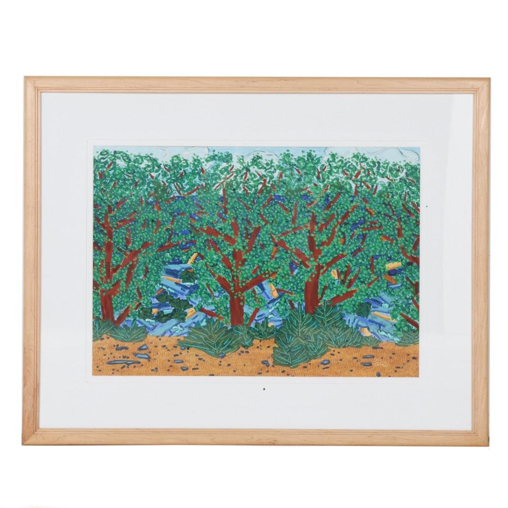 Price Larson Acrylic Painting on Paper
