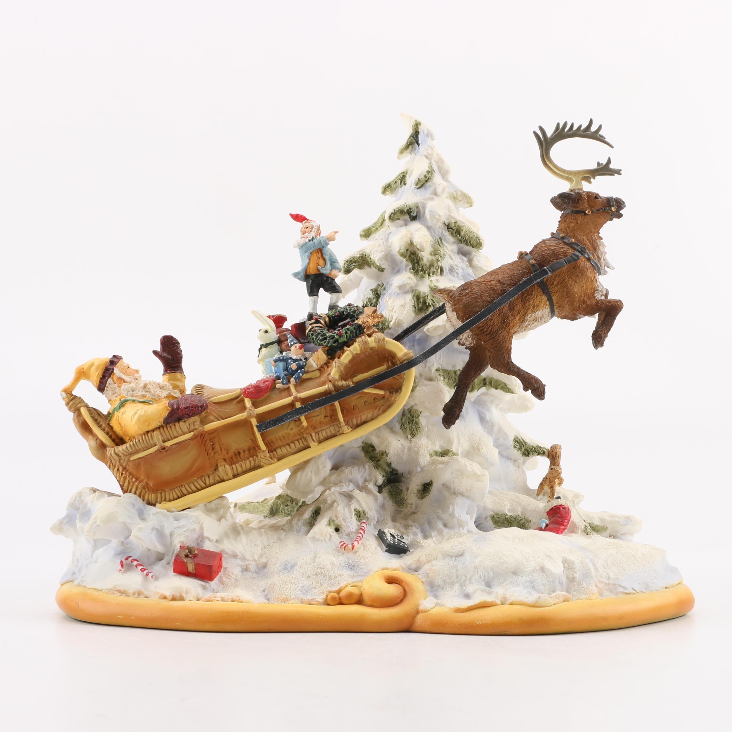 Maruri Limited Edition Figurine Entitled Santa's Air Express