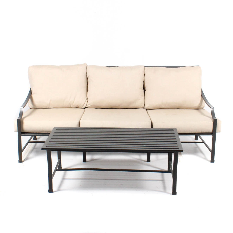 Restoration Hardware Patio Sofa and Table