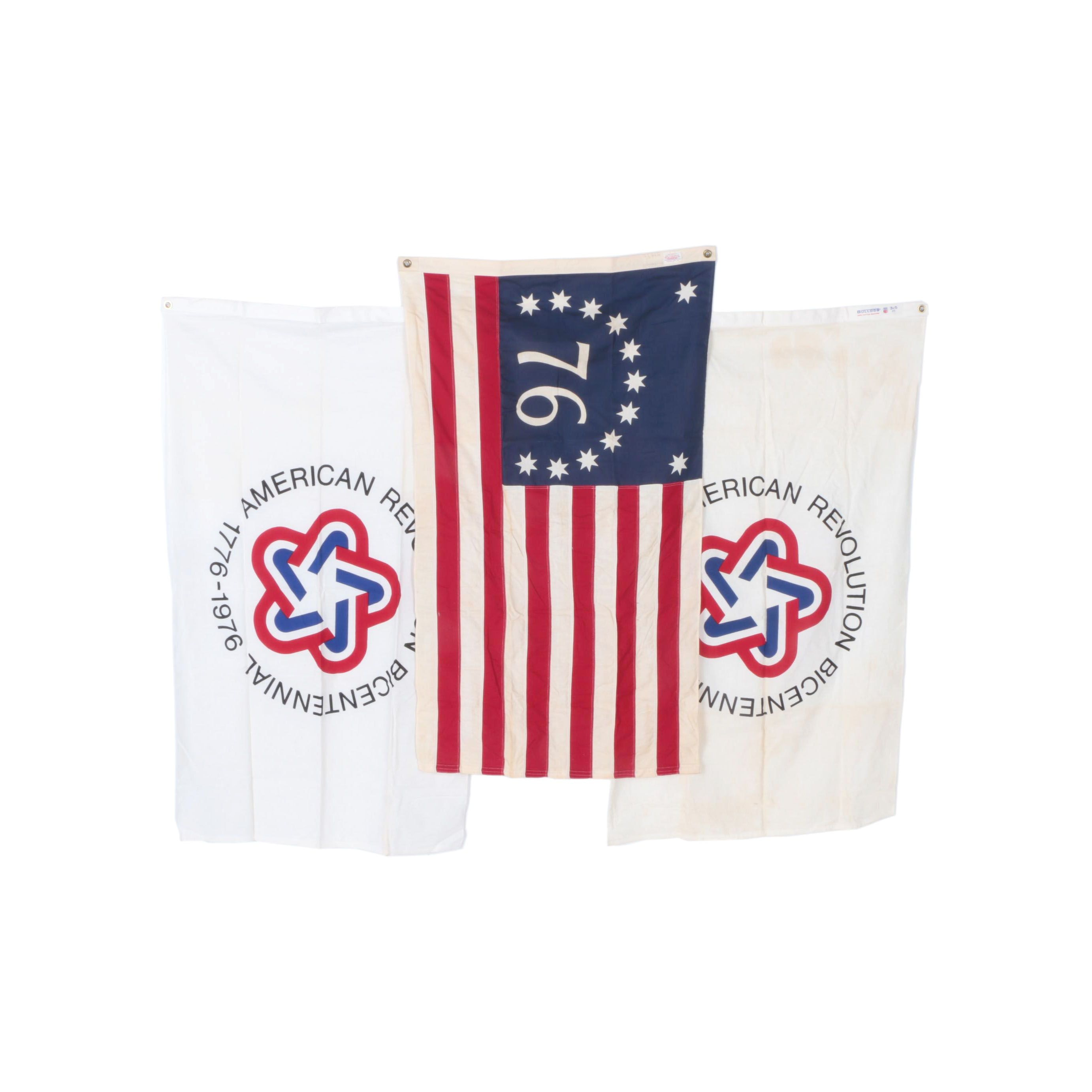 American and Bicentennial Flags