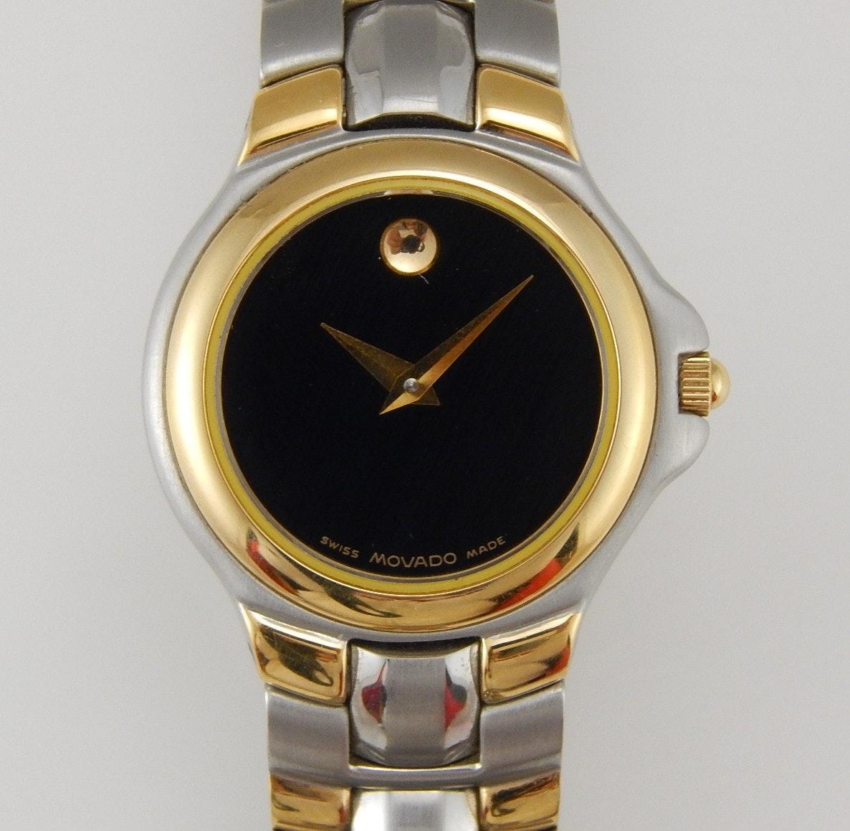 Movado Two-Tone Museum Piece Wristwatch