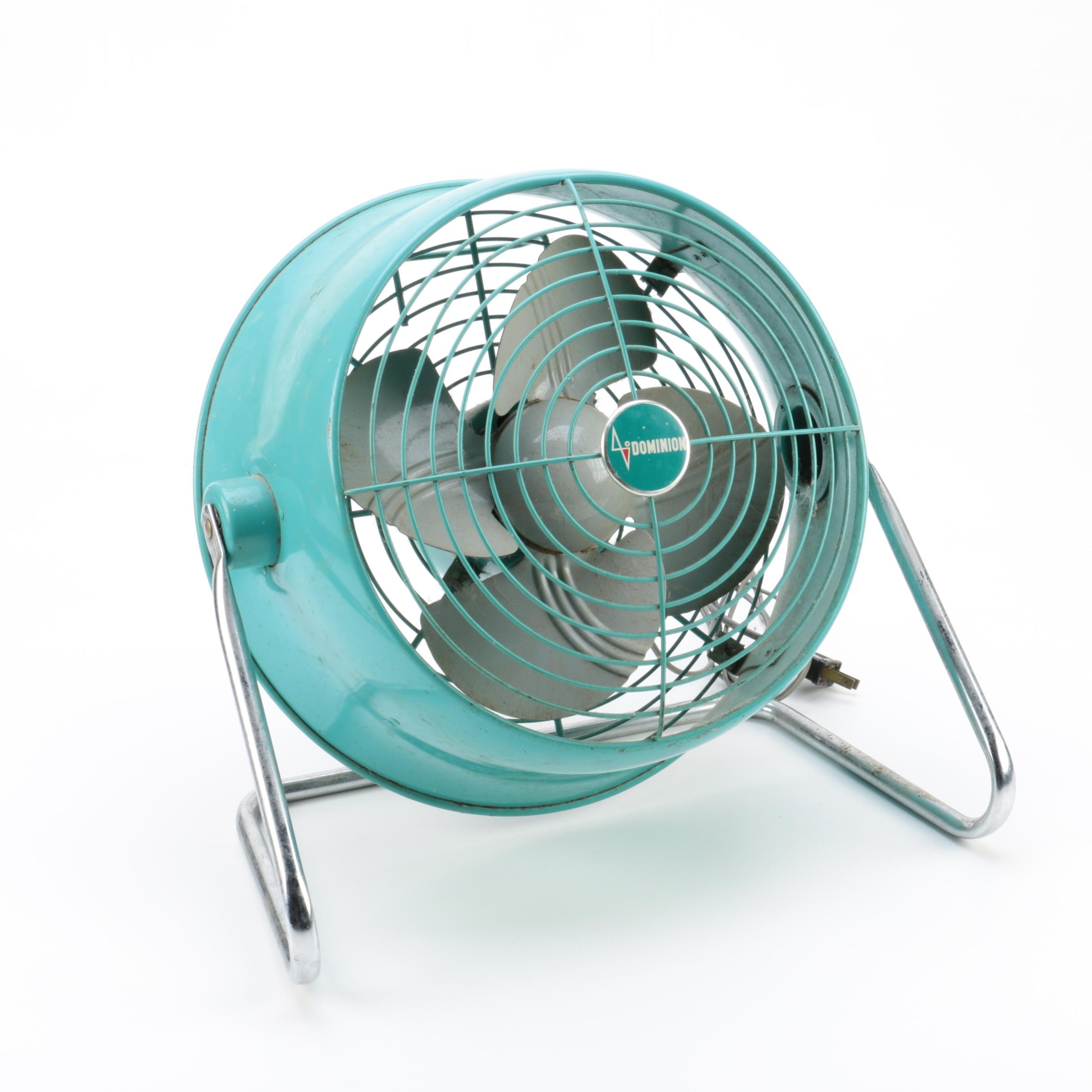Vintage Dominion Metal Fan