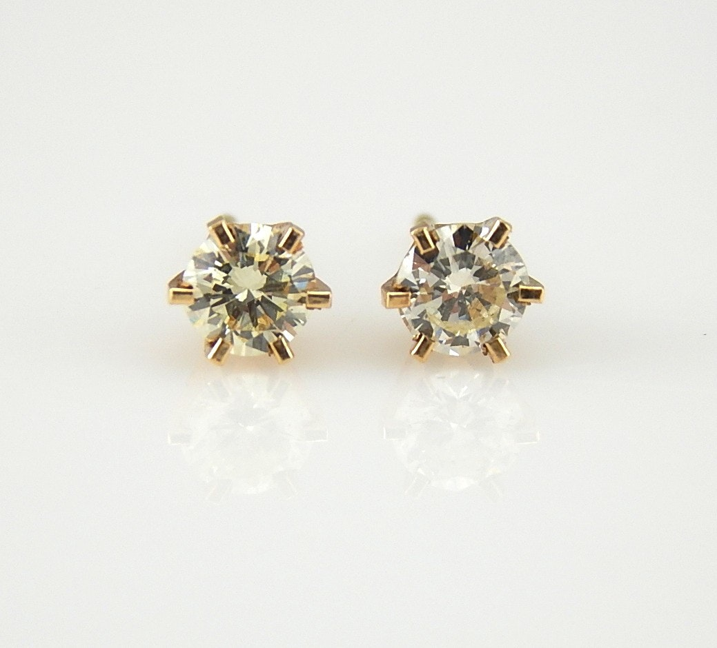14K Yellow Gold 0.52 CTW Diamond Stud Earrings