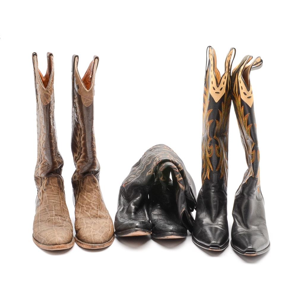 Women's Vintage Cowboy Boots Including Paul Bond