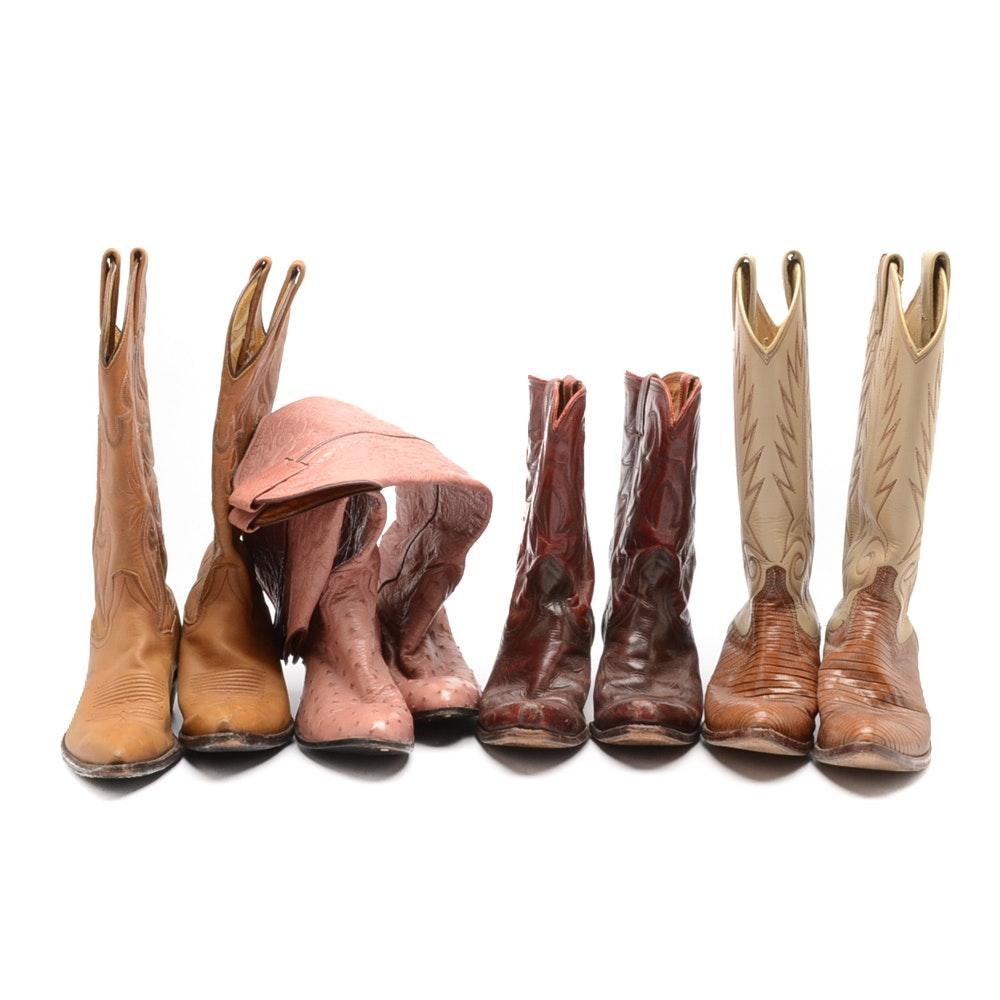 Women's Vintage Cowboy Boots including Nacona