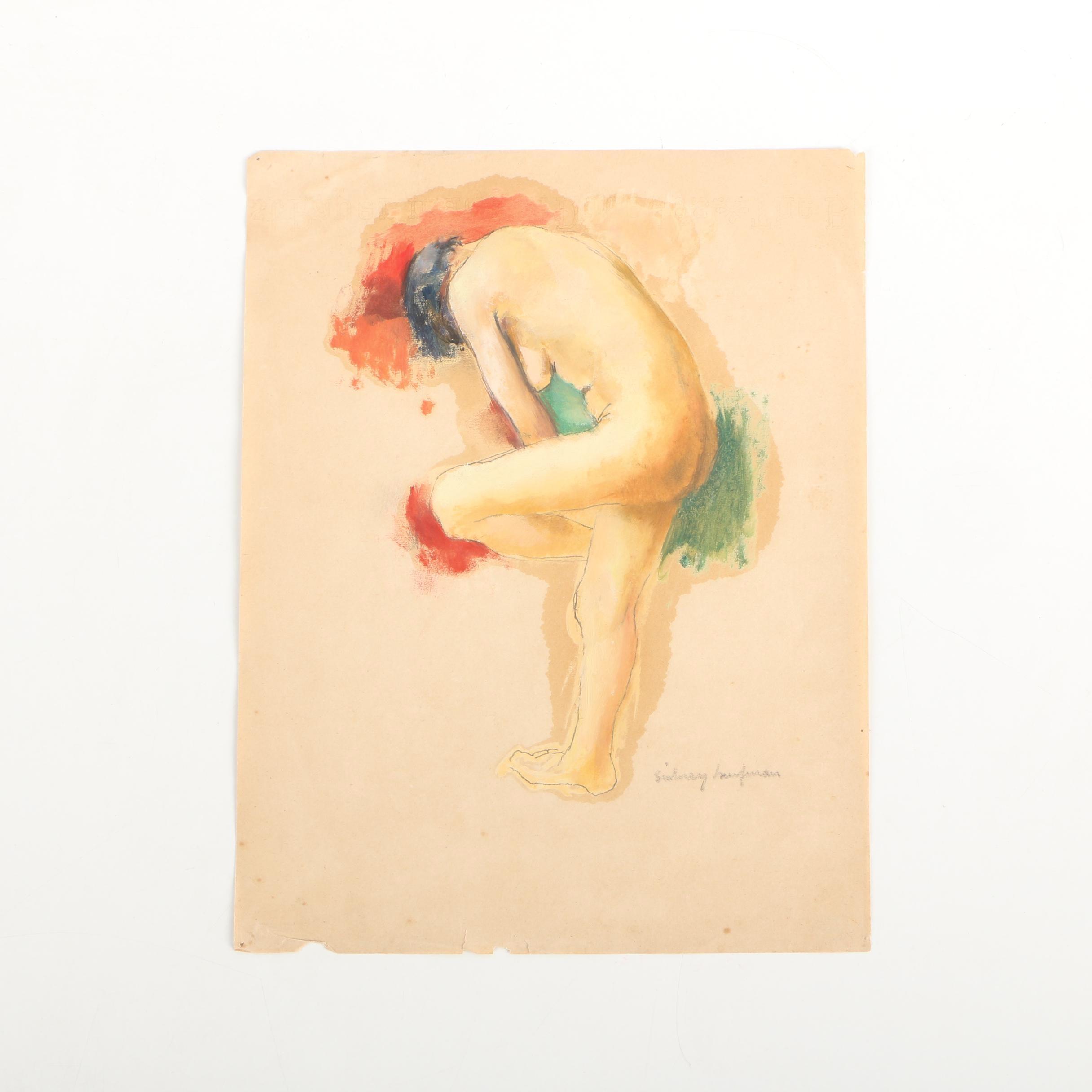 Sidney Haufman Nude Figural Oil Painting