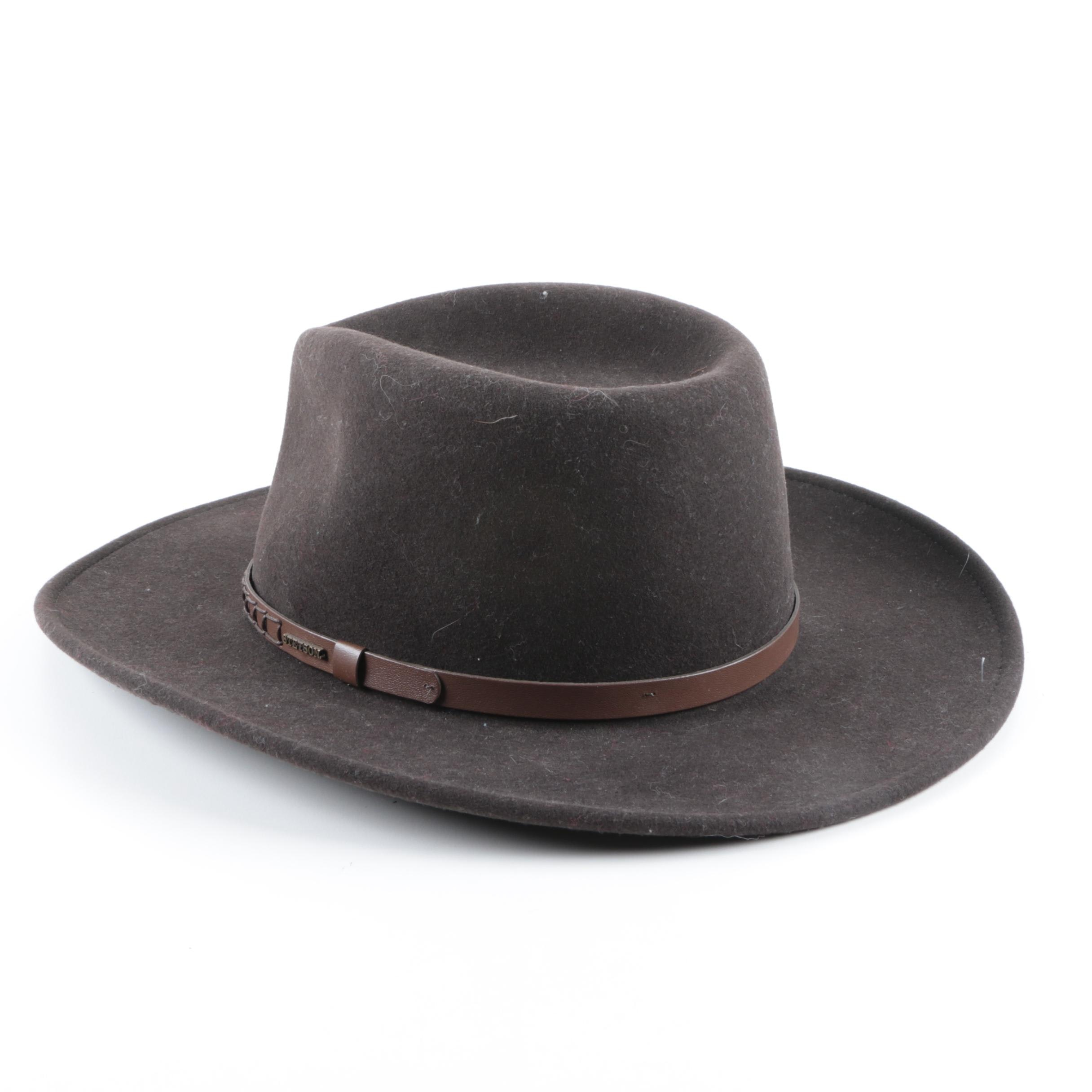 Stetson Crushable Water Repellent Wool Western Hat