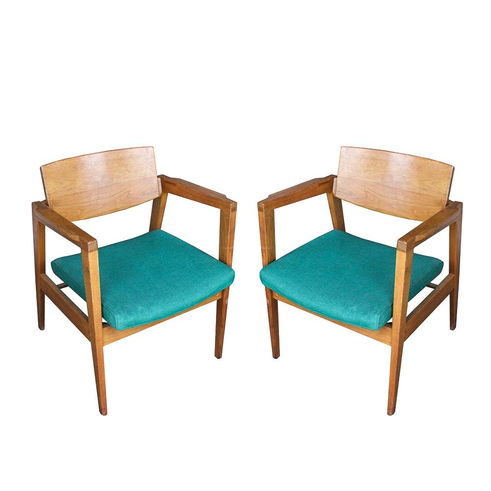 Mid Century Modern Armchairs by W. H. Gunlocke Chair Company