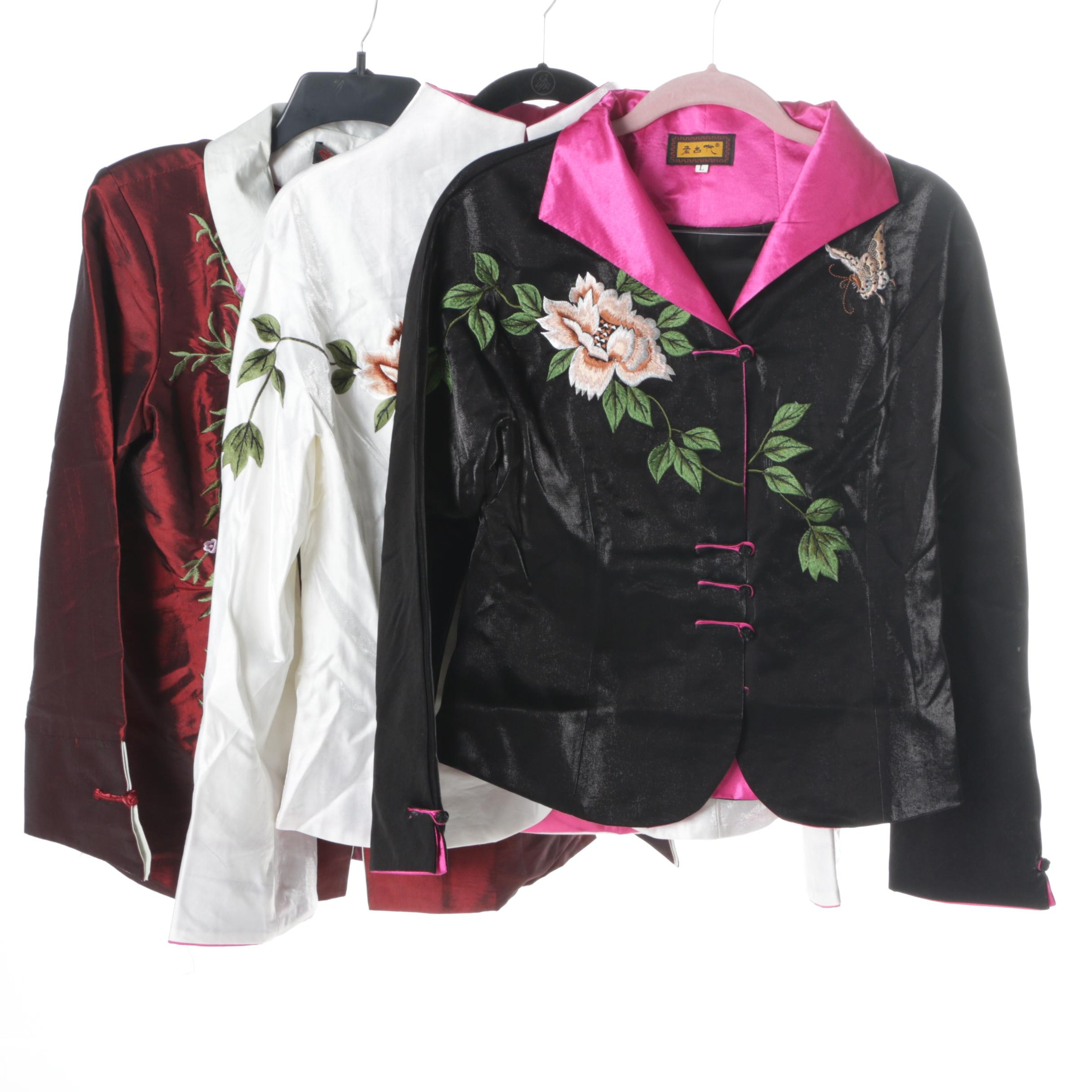 Women's Asian Embroidered Jackets Including Tang Yi Rong